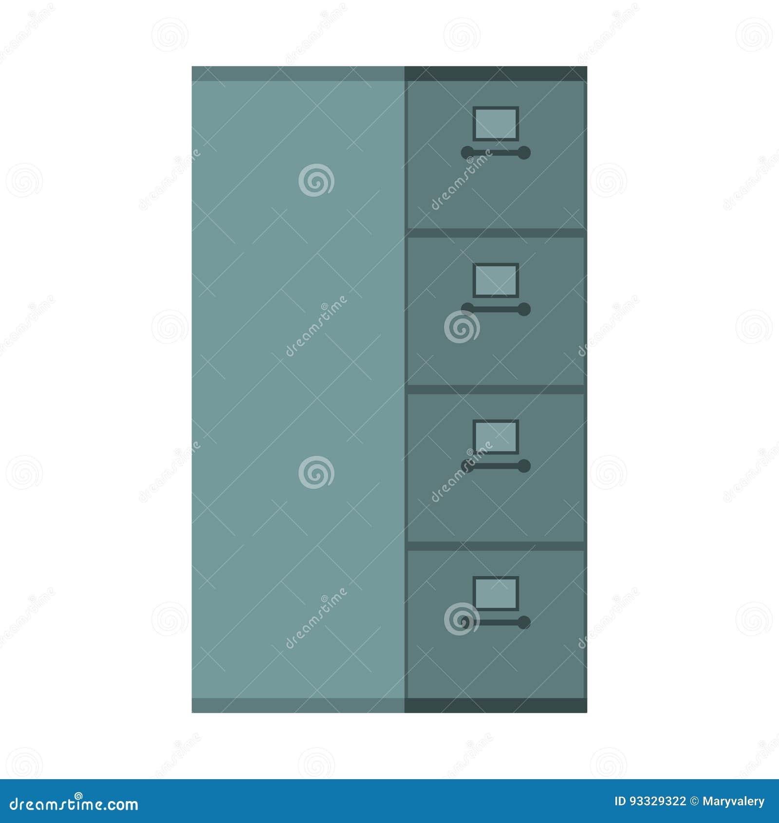 Cab Datei Geschlossen Kartei Eisenkasten Fur Dokumente Buro Vektor
