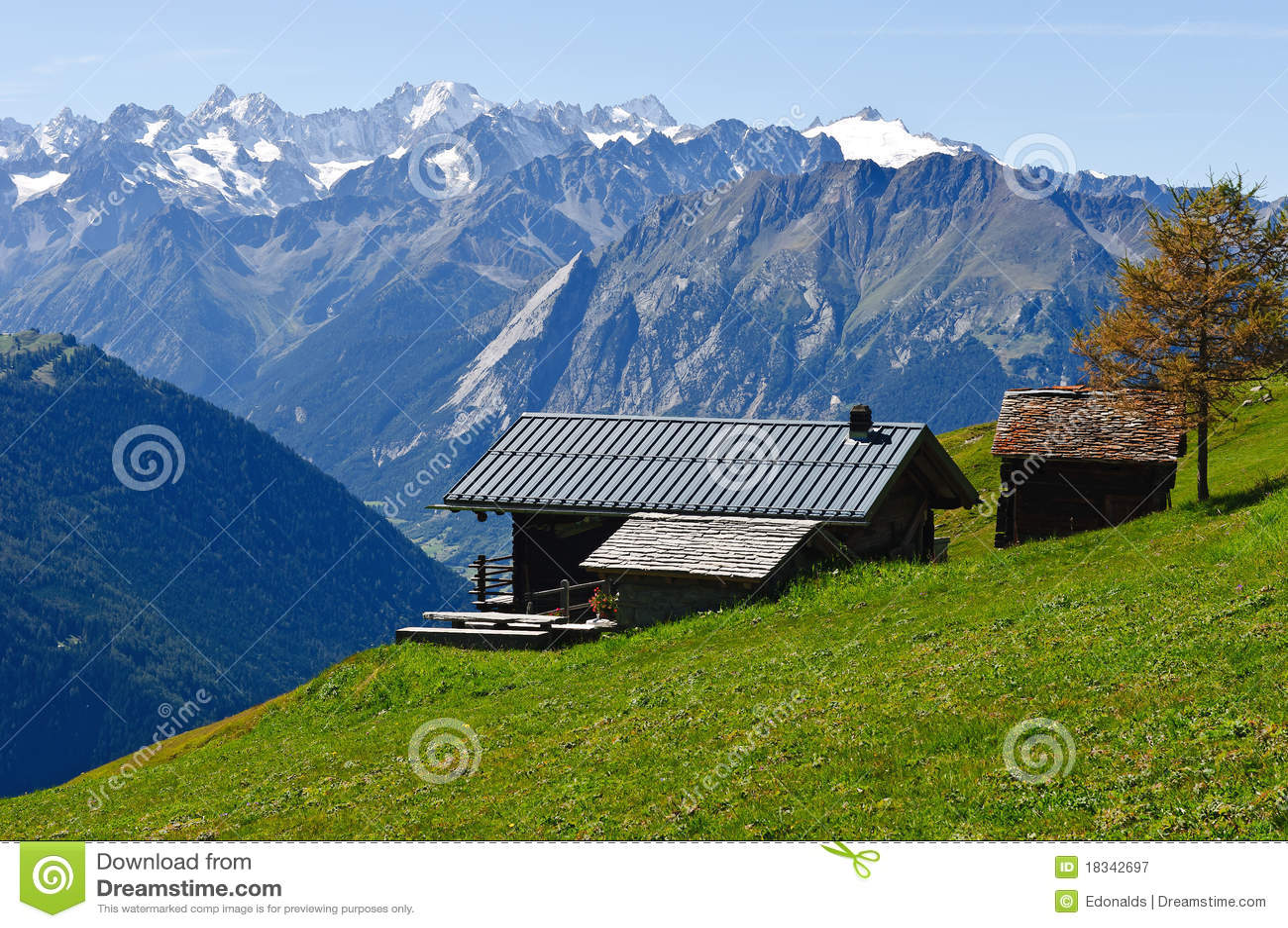 Cabaña alpestre en las montan@as suizas