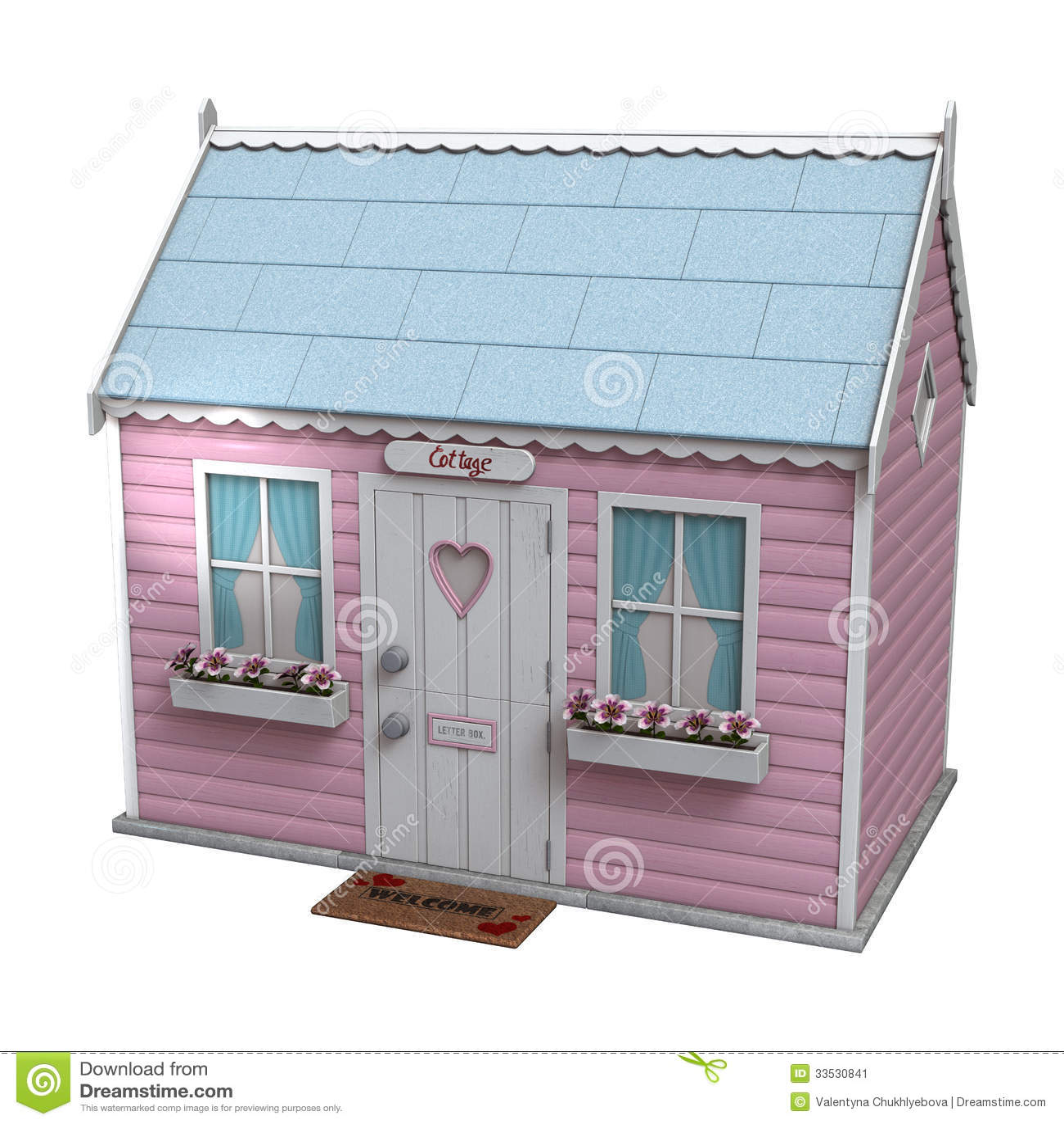 Cabaña de hadas rosada
