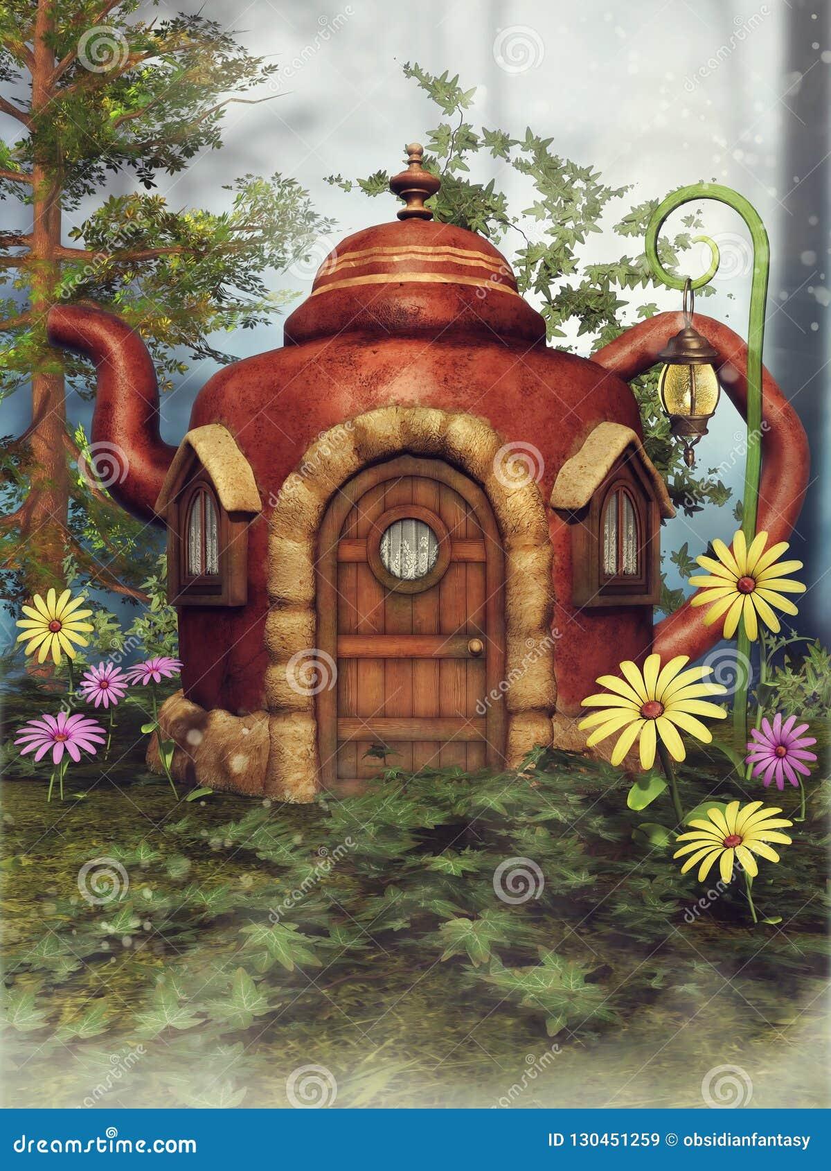 Cabaña de la tetera de la fantasía