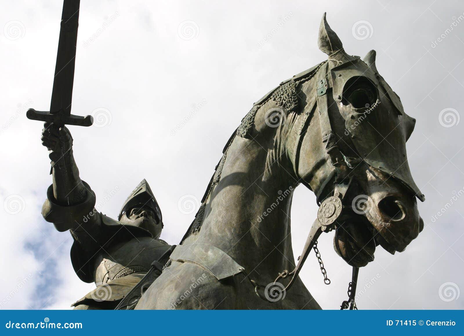 Caballero en su caballo - en Francia