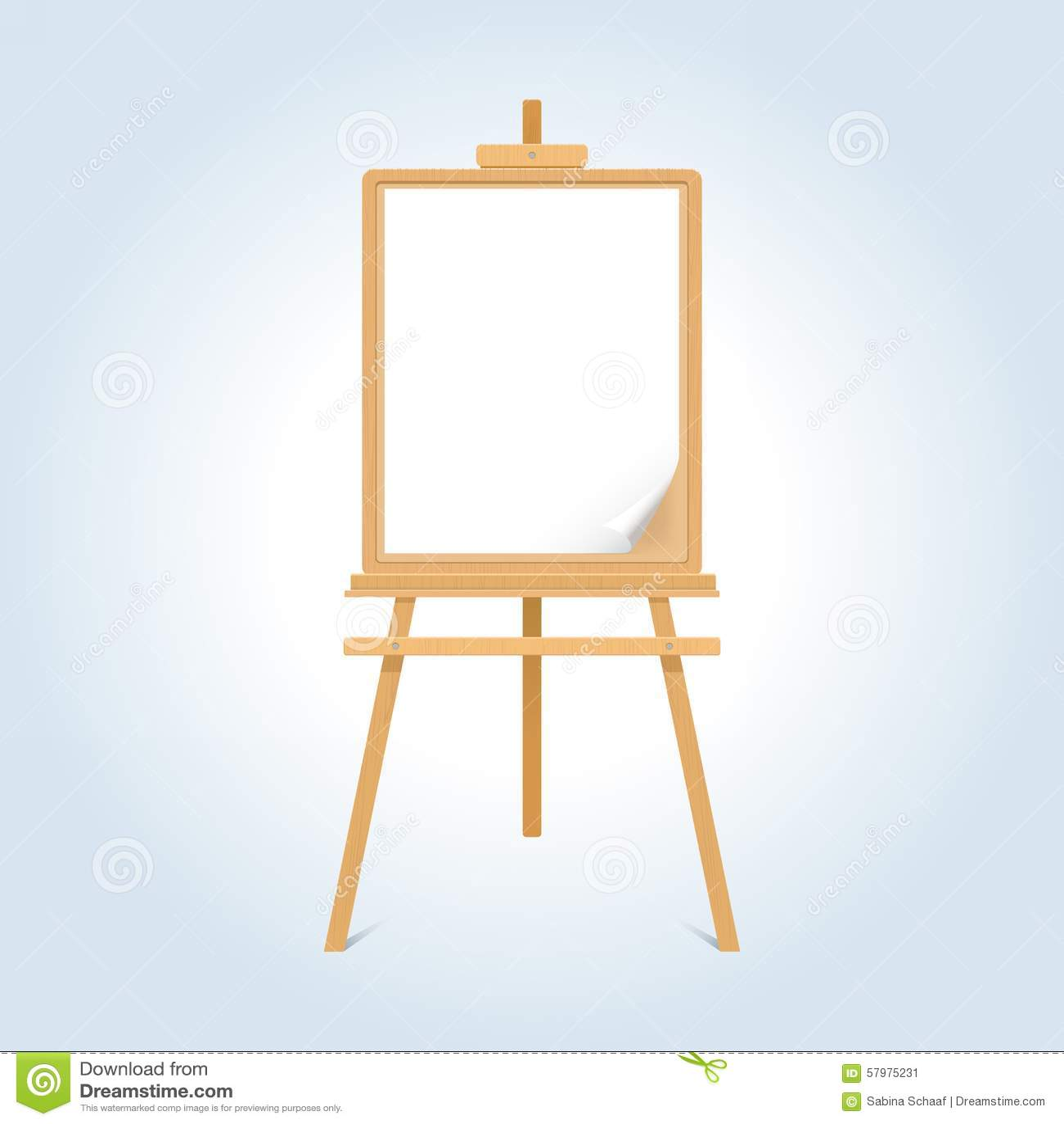 Caballete de madera ilustraci n del vector imagen 57975231 - Caballetes de madera ...