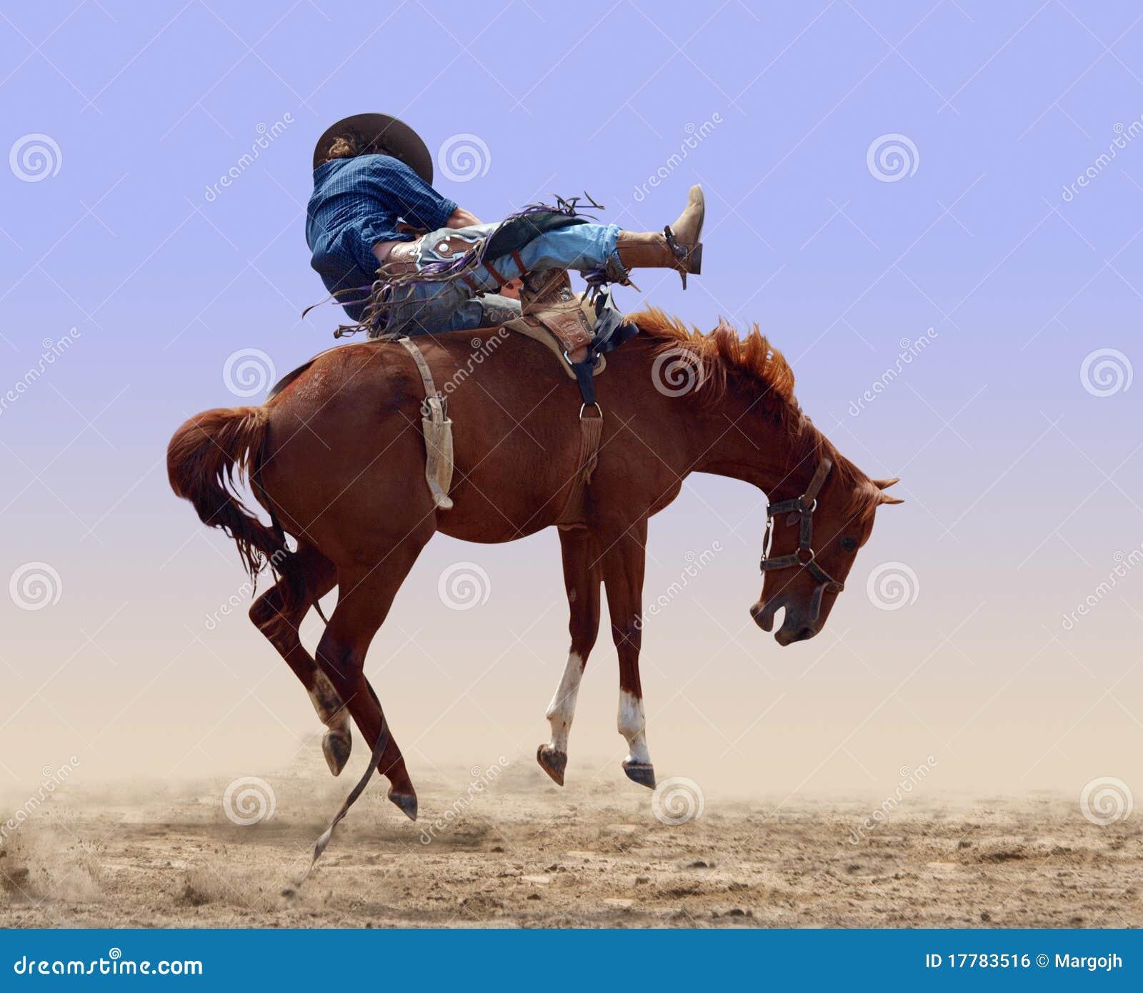 Caballo Bucking del rodeo