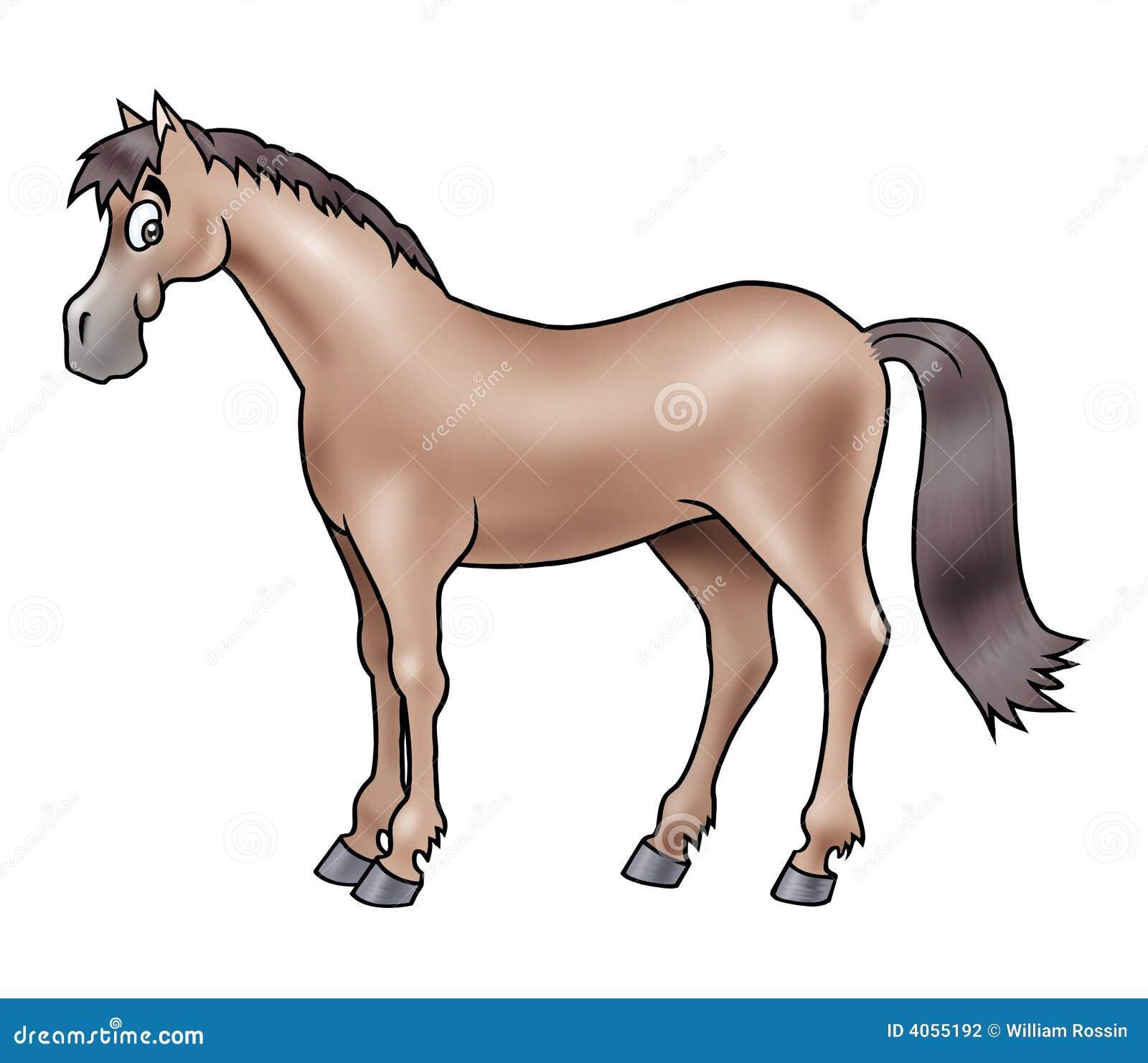 Caballo marrón lindo