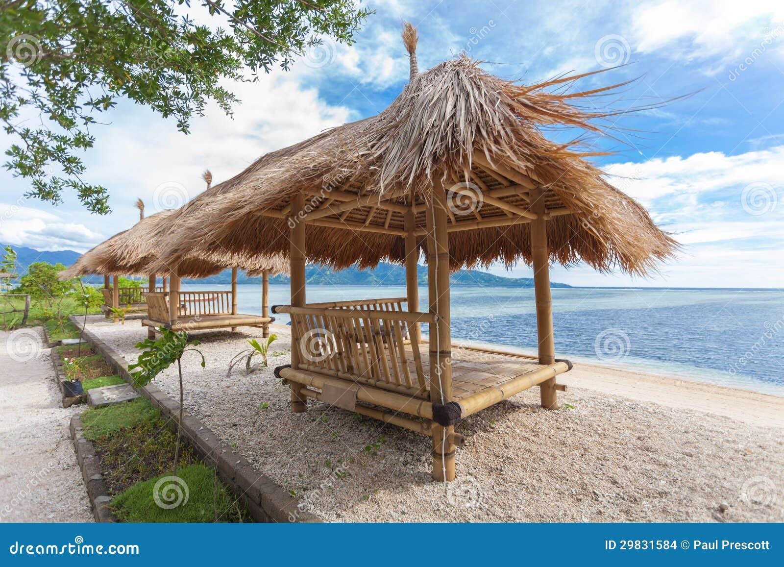 Cabana de bambu