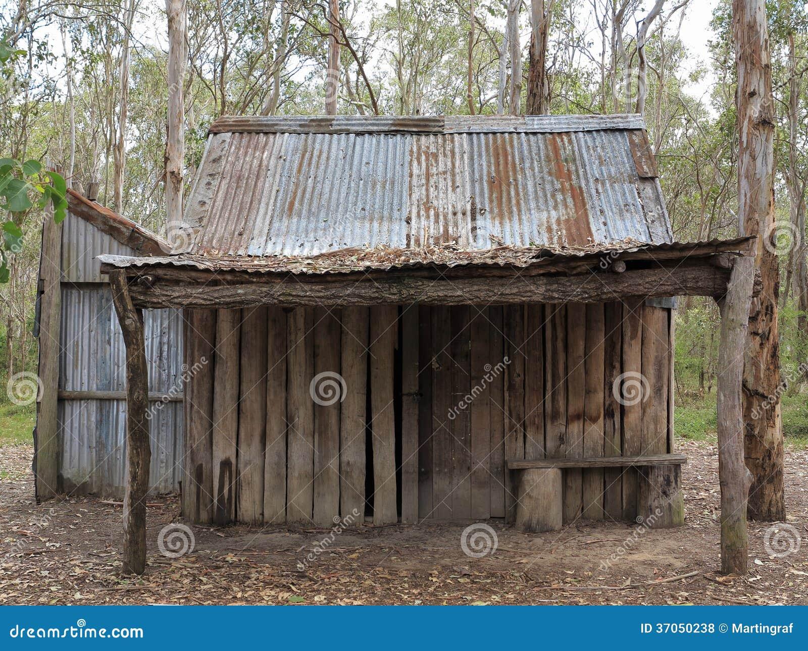 Cabana velha desolada