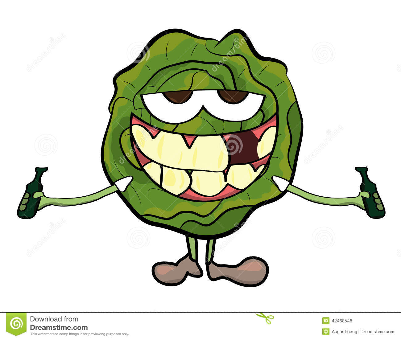 Cabbage cartoon character stock illustration. Illustration ...