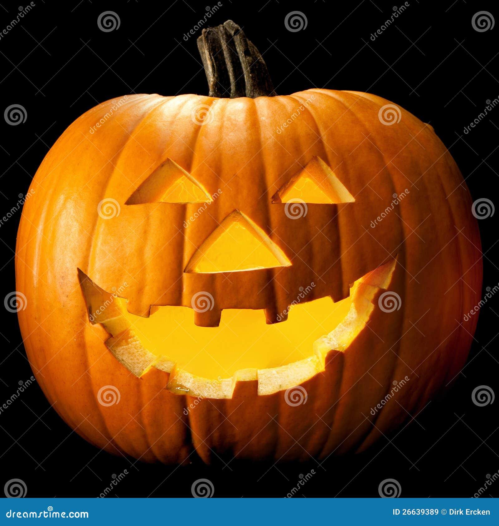 Cabeça da abóbora de Halloween