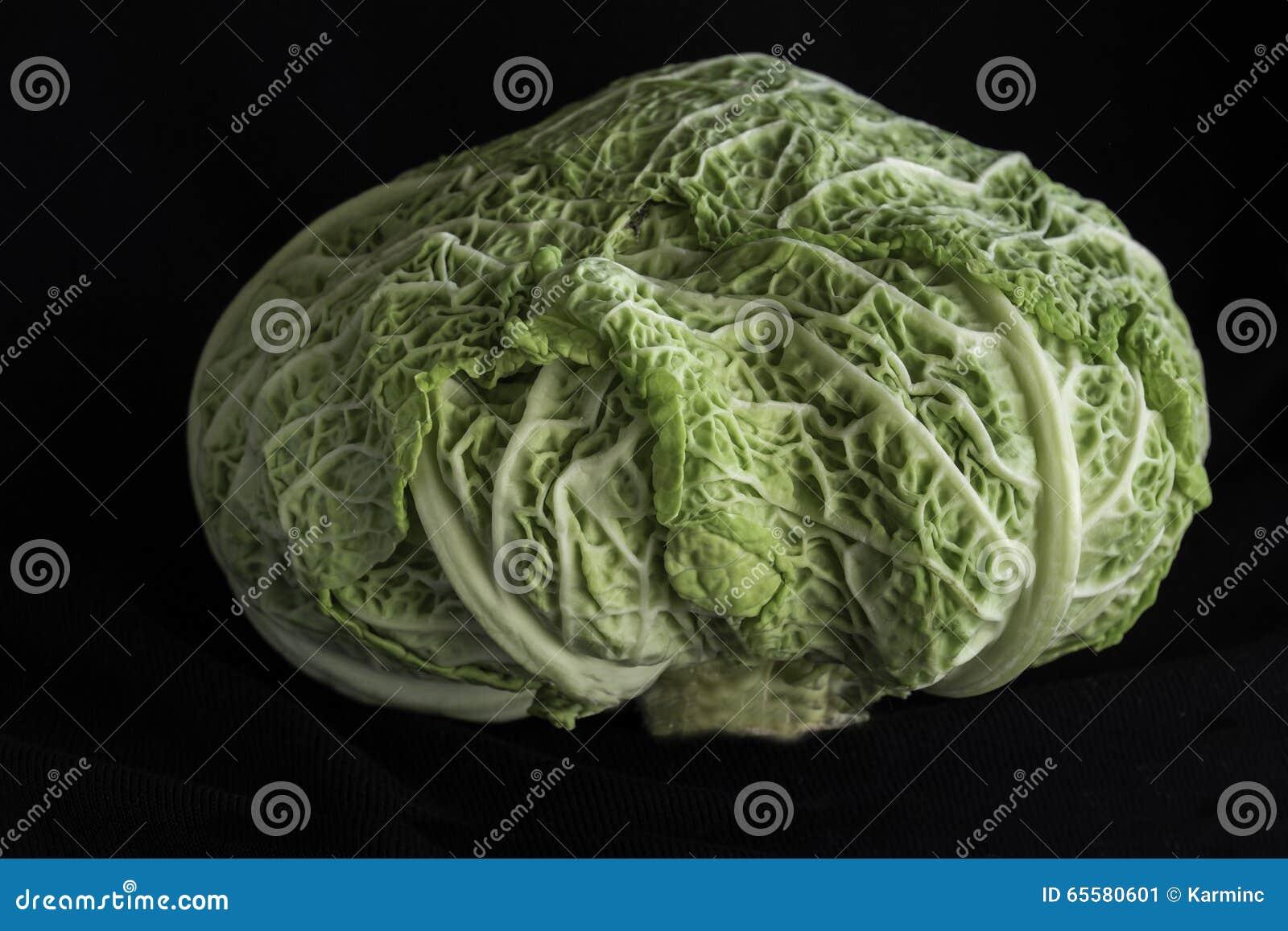 Cabeça da couve verde