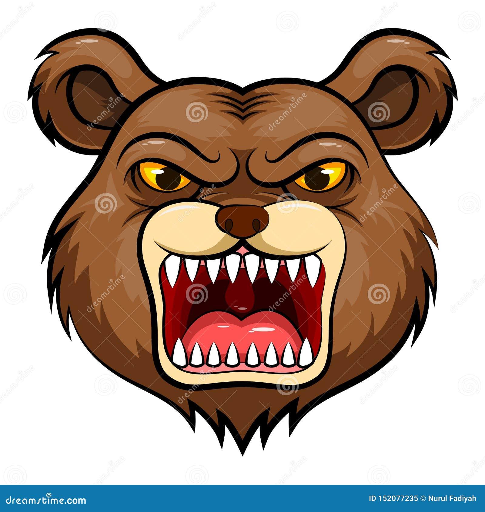 Cabeça da mascote de um urso