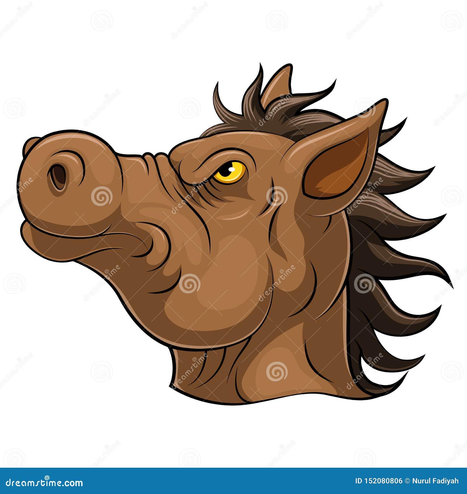Cabeça de uns desenhos animados do cavalo
