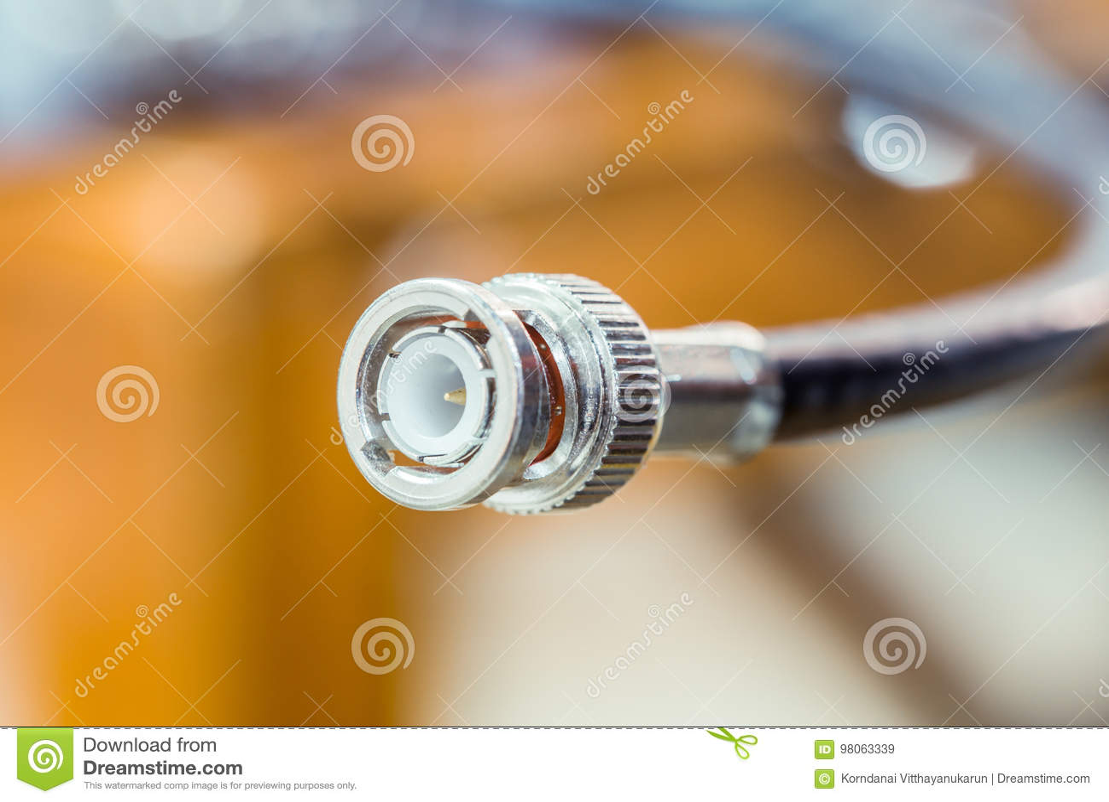 Cabeça do close up da tevê do cabo RG6 RGB do CCTV coaxial