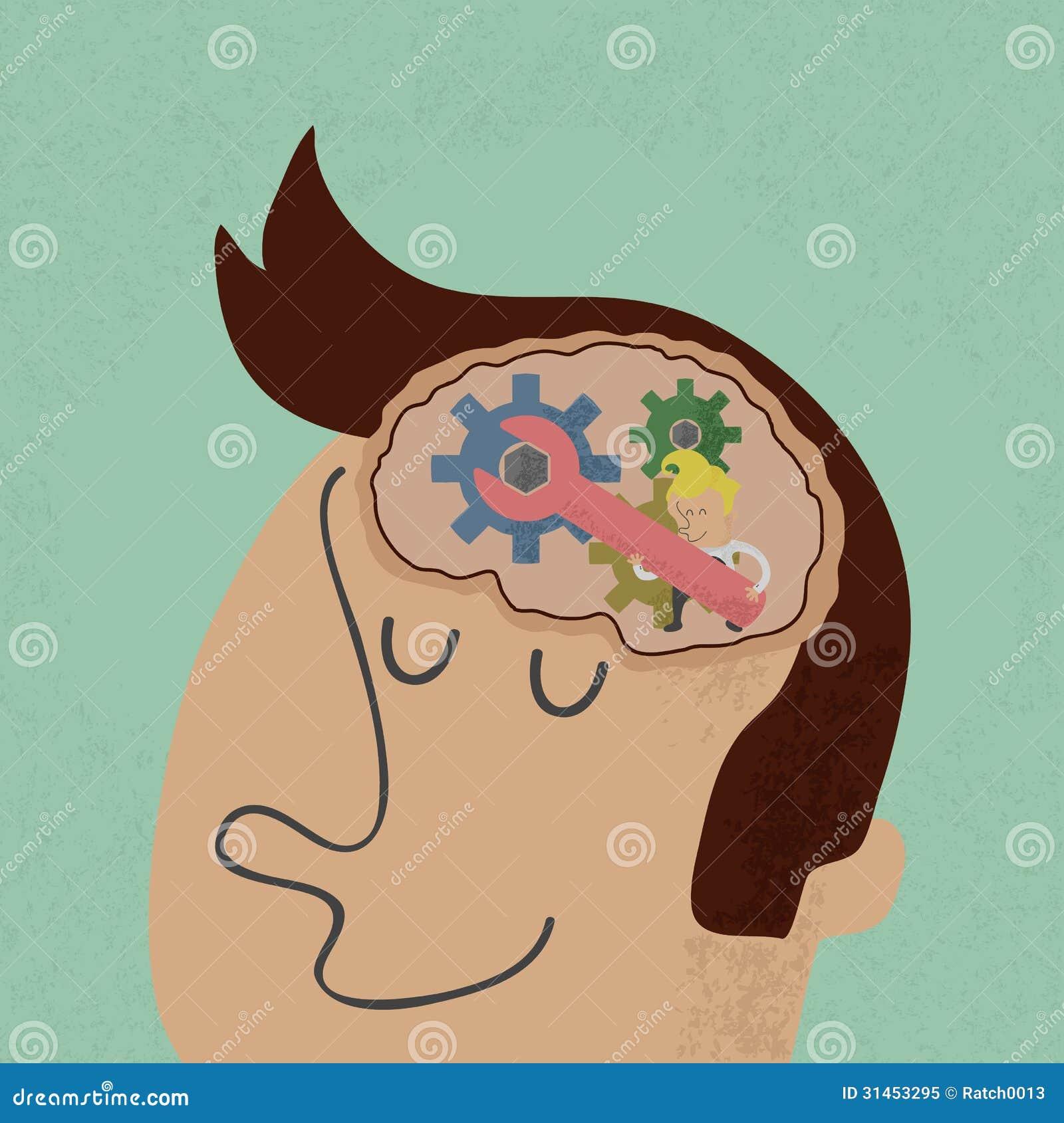 Cabeça e Brain Gears em andamento