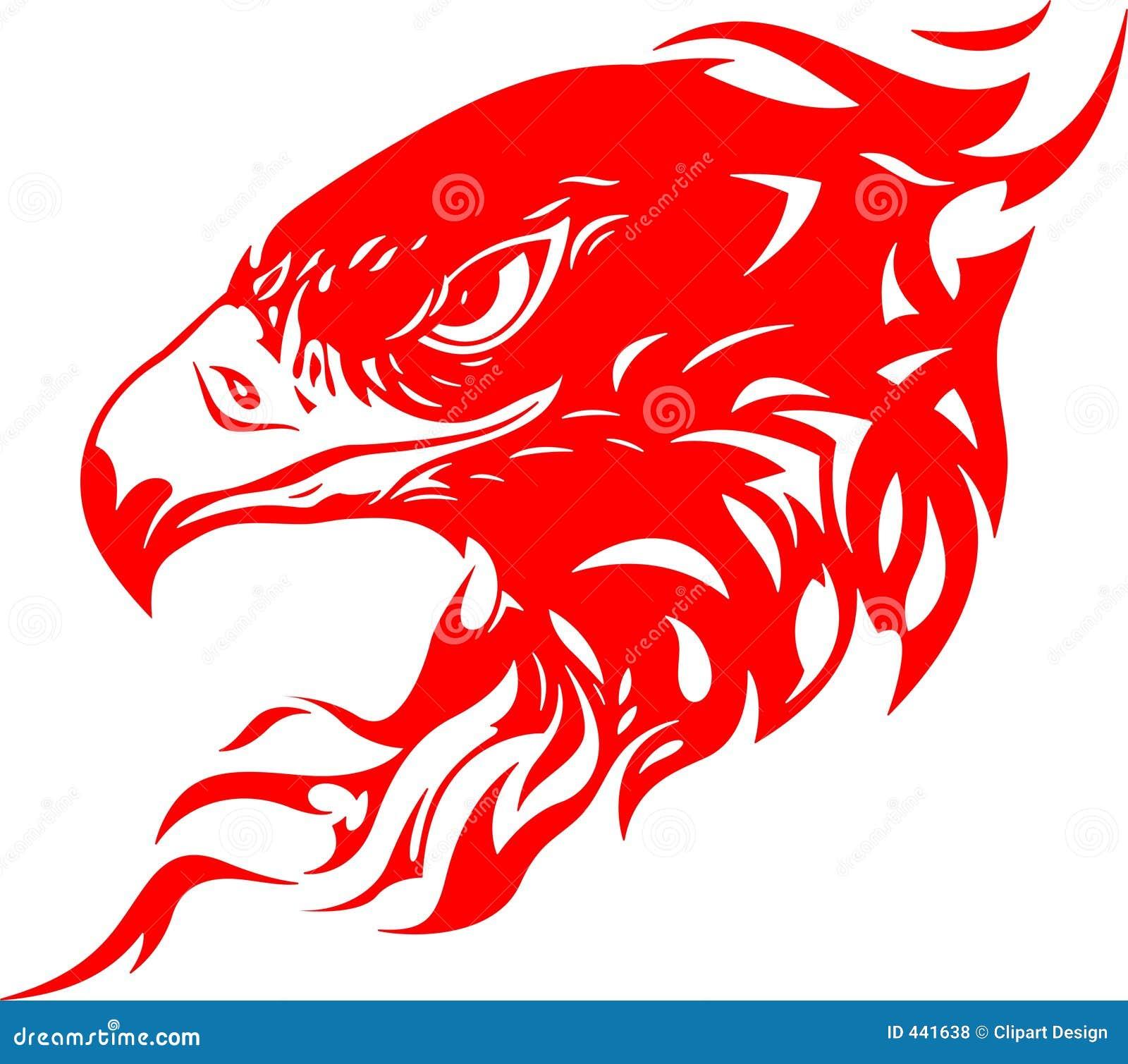 Cabeça flamejante 1 da águia