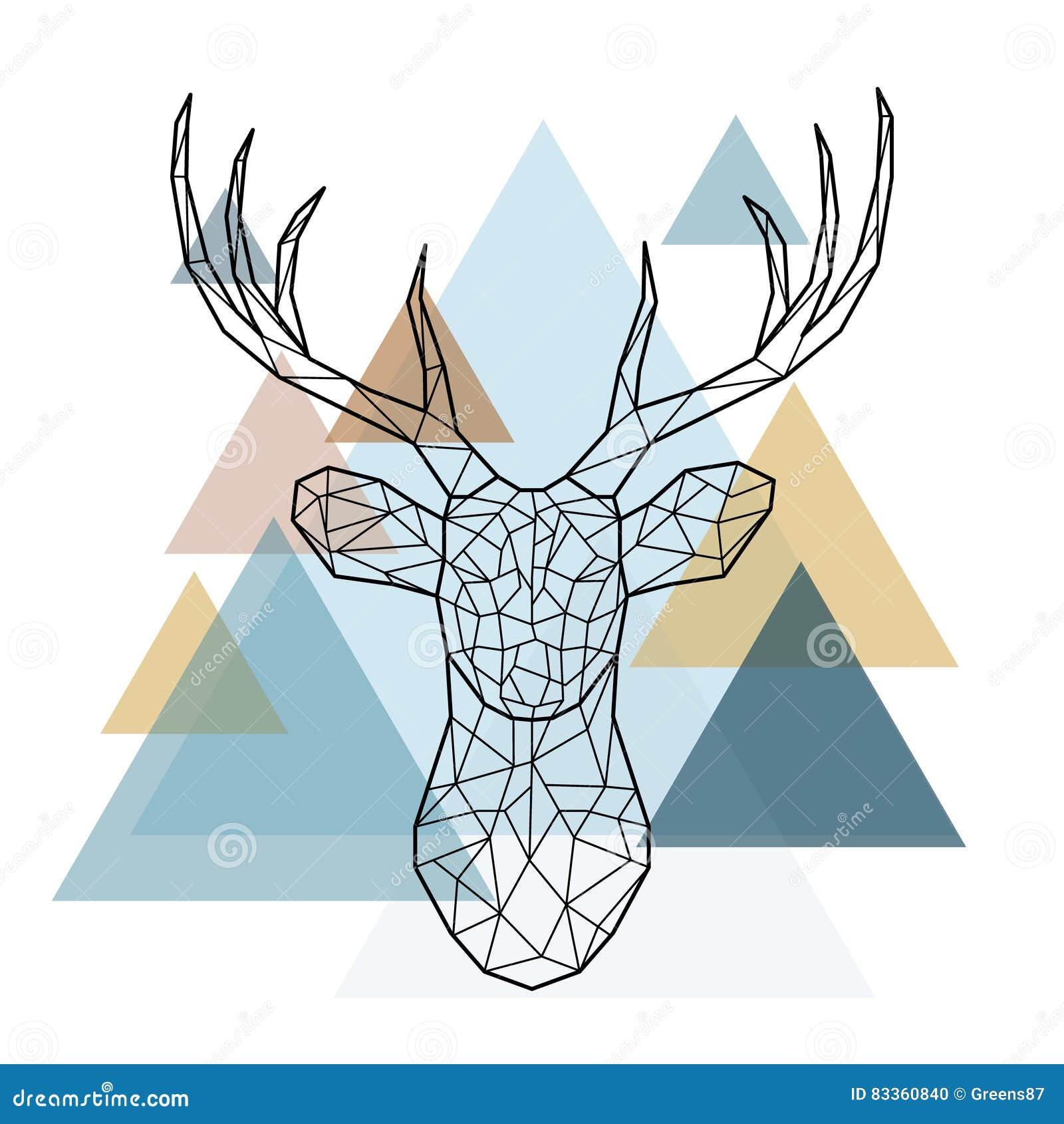 Cabeça geométrica dos cervos