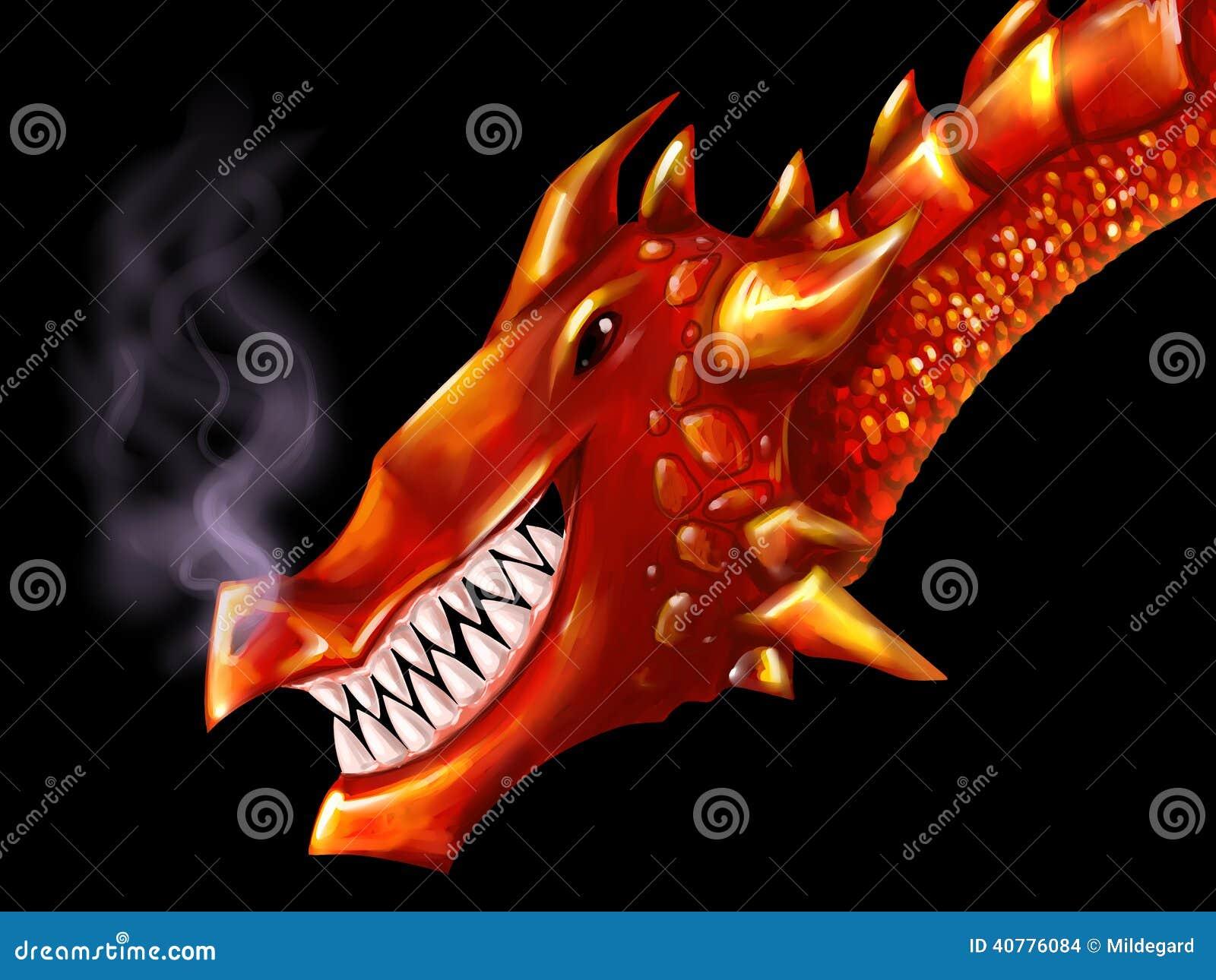 Cabeça vermelha do dragão