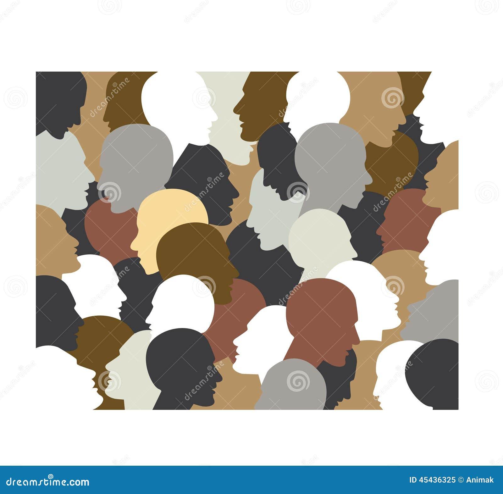 Cabeças do perfil dos povos