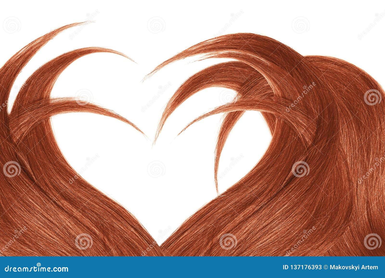 Cabelo da hena na forma do coração, isolada no fundo branco