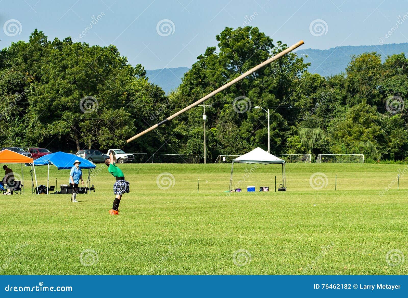 Caber Toss – Highland Games, Salem, VA