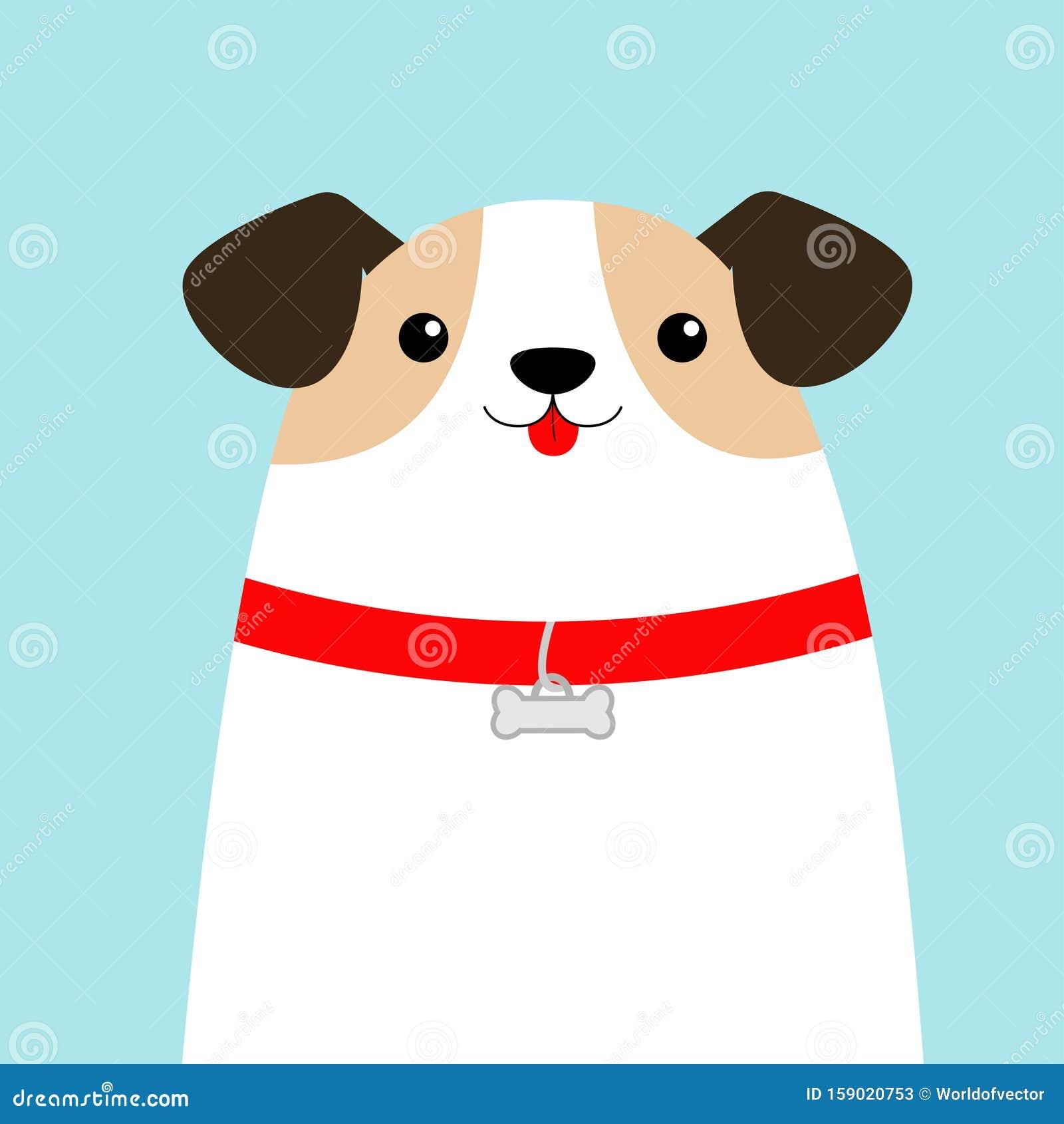 Cabeza De Cara De Perro Caca De Cachorro Blanco Hueso De Cuello Rojo Caricatura Curada Kawaii Personaje Gracioso De Beba C Esti Ilustracion Del Vector Ilustracion De Perro Esti 159020753