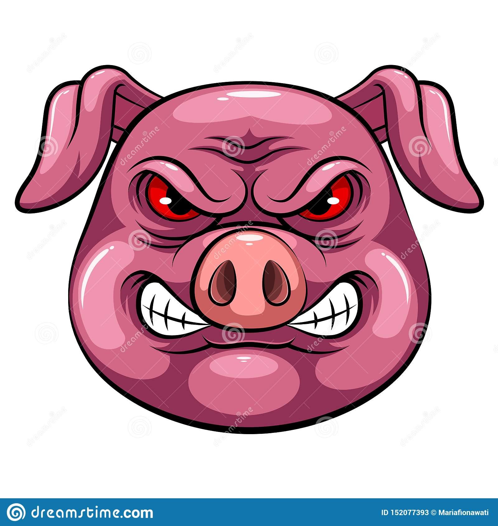Cabeza de la mascota de un cerdo