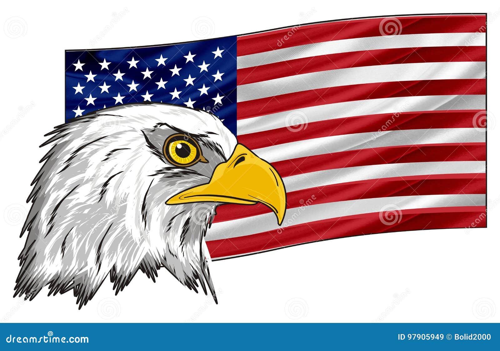 aguila de la bandera