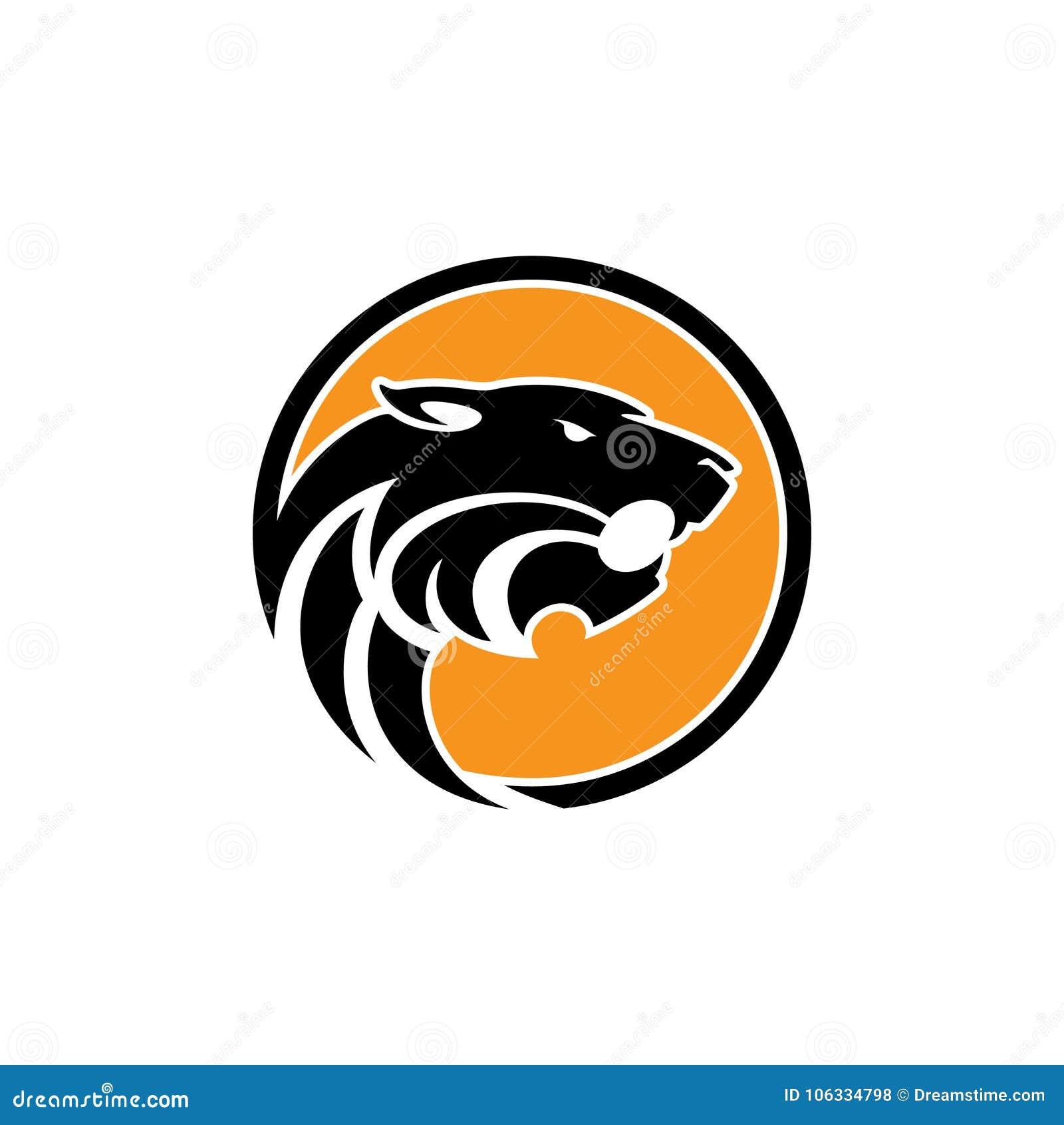 Cabeza del tigre - vector el ejemplo del concepto del logotipo en estilo gráfico clásico Muestra principal de la silueta del tigr