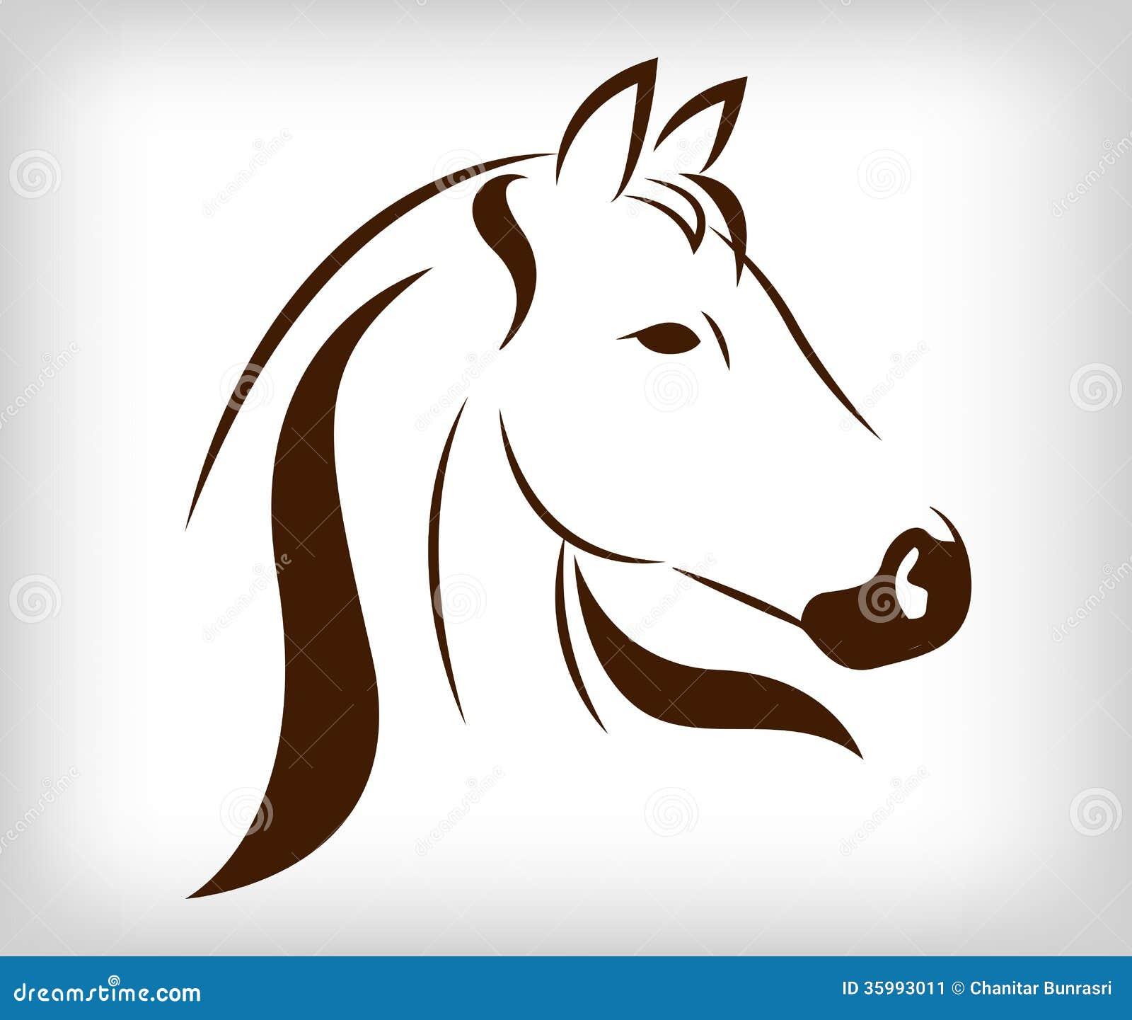 cabeza del vector del caballo ilustraci243n del vector