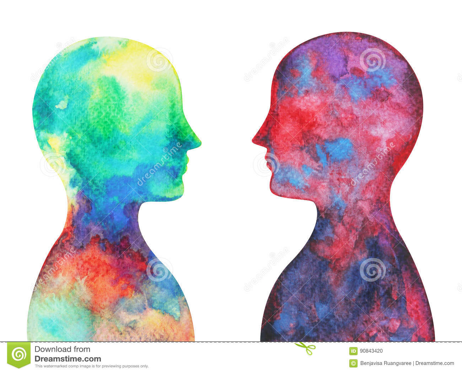 Cabeza humana, poder del chakra, pensamiento abstracto de la inspiración