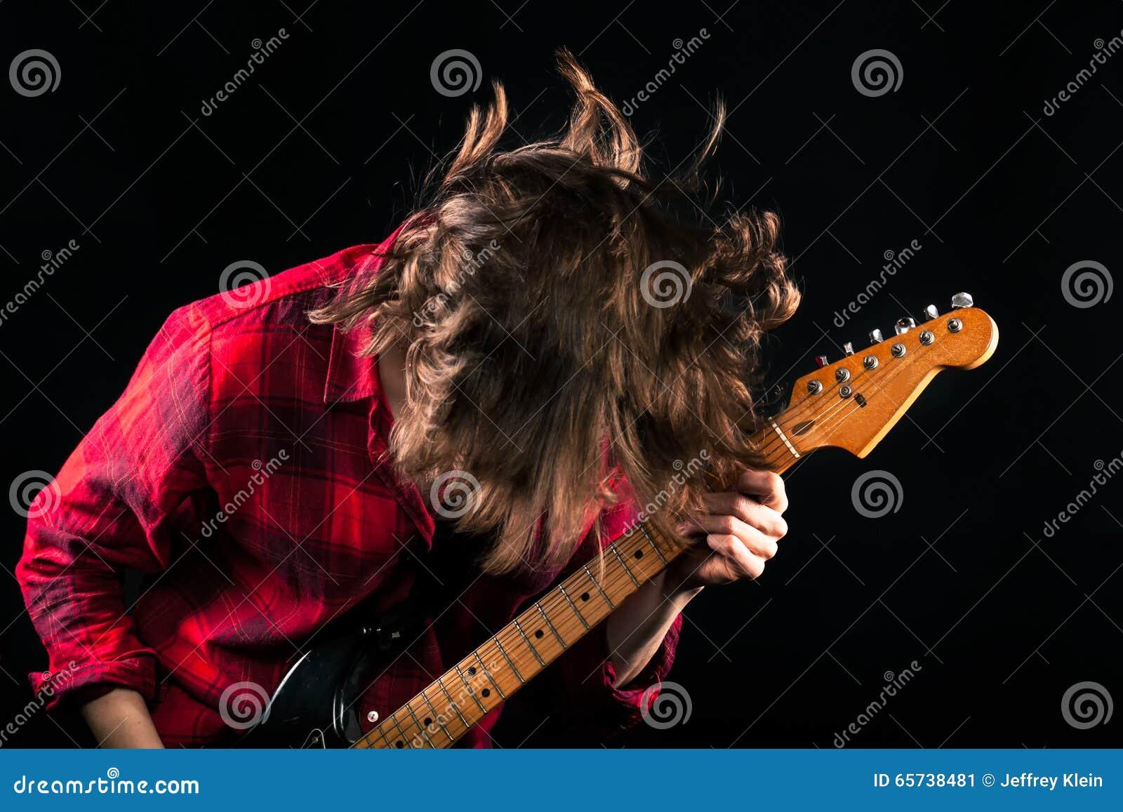 Cabeza modelo de la guitarra de Red Flannel Shirt abajo