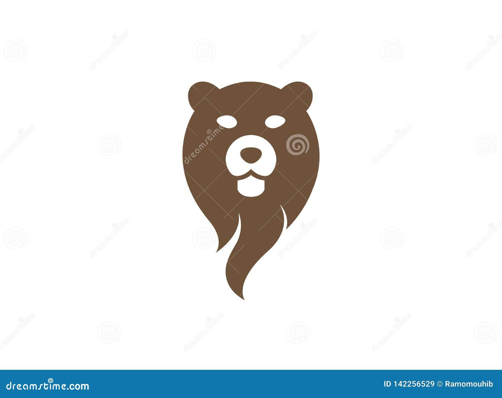 Cabeza y cara del oso para el diseño del logotipo