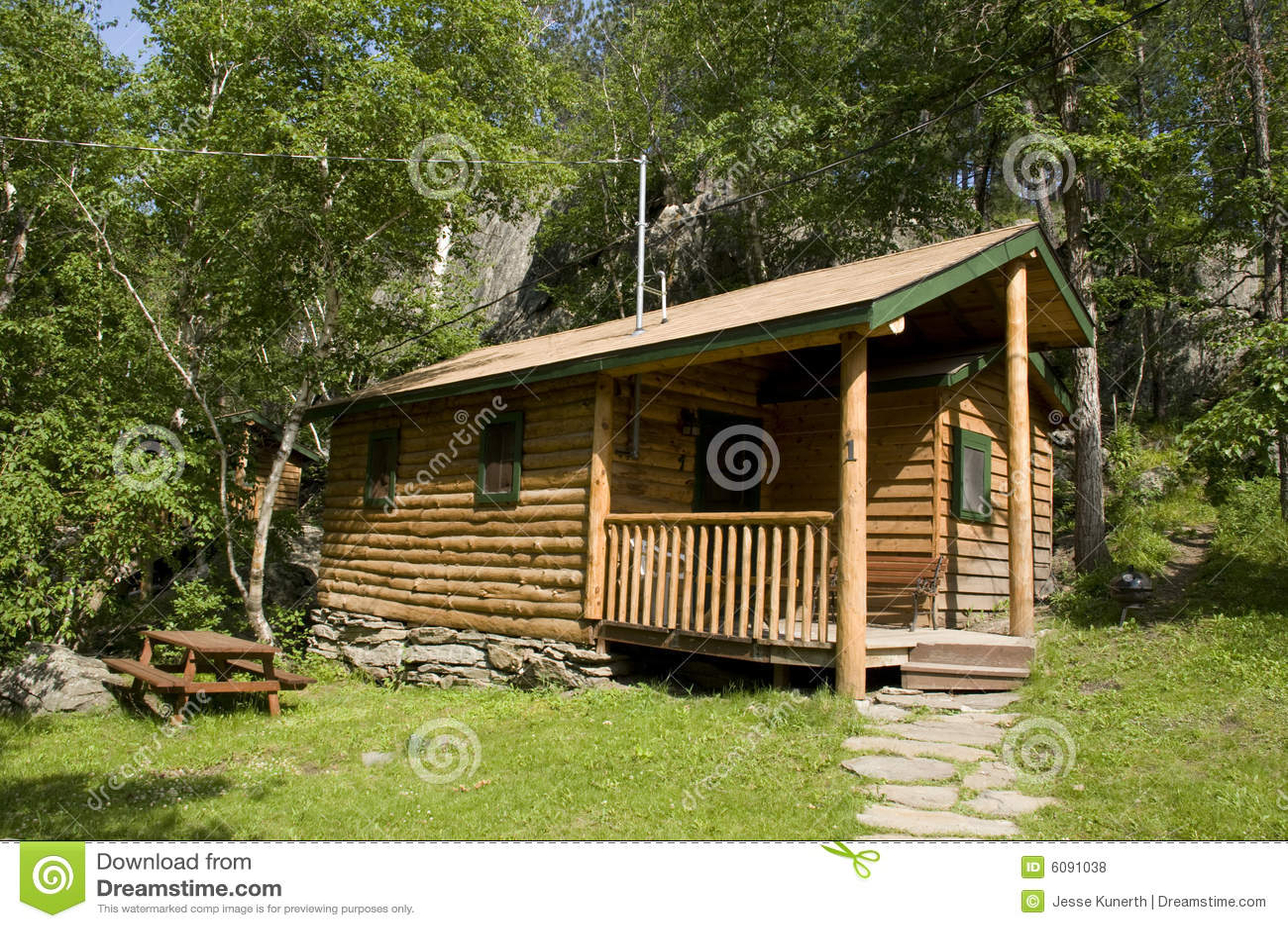 Cabin in black hills of south dakota royalty free stock for Cabine black hills south dakota