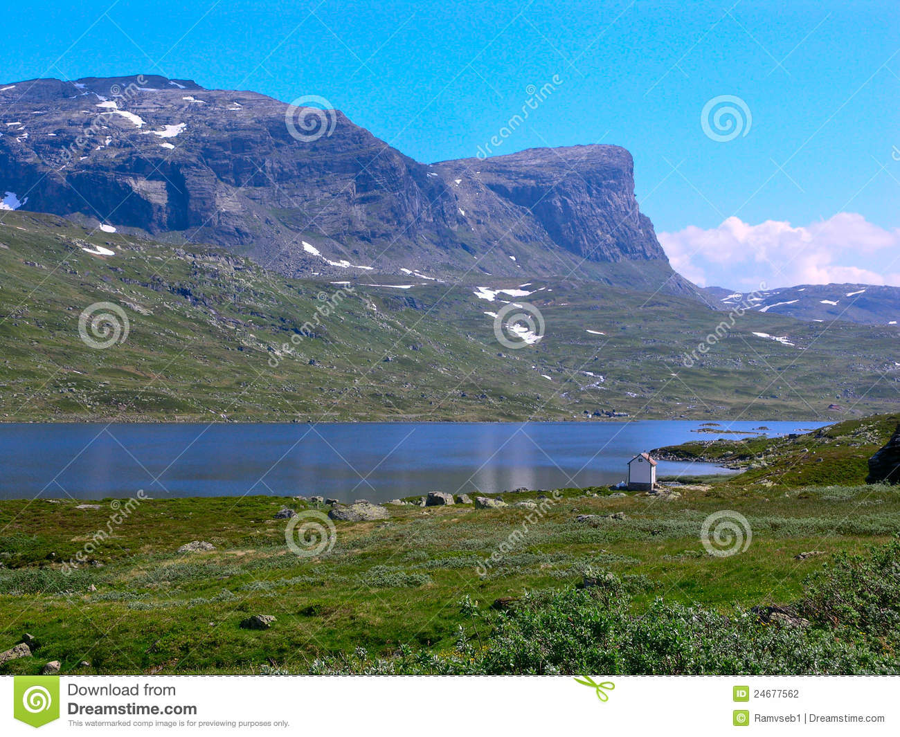 Small house on a forest at the norway mountains stock image 20944651 - The house on the rock the ultimate refuge in a norwegian fjord ...