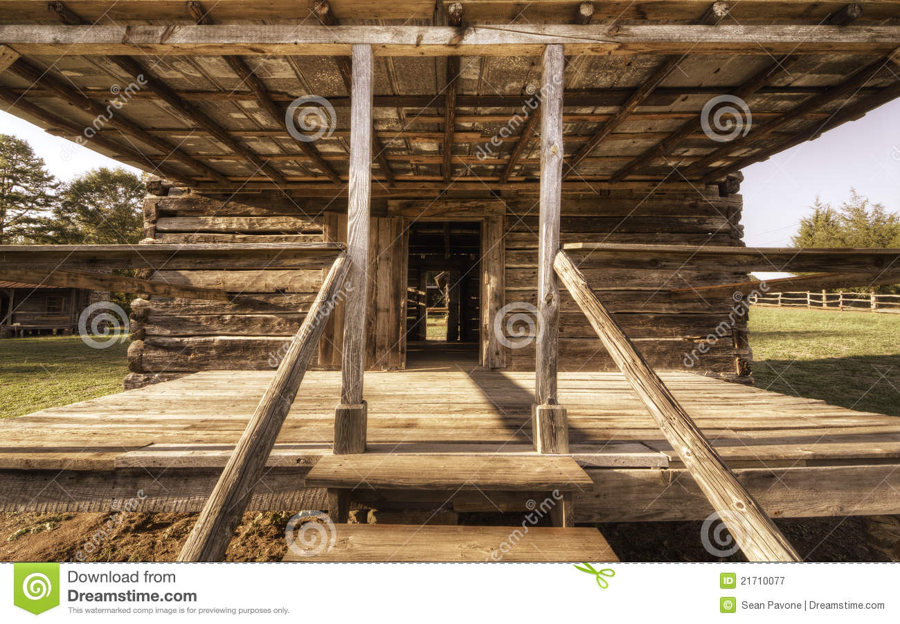 Cabin Porch Stock Image Image Of Country Deck Century