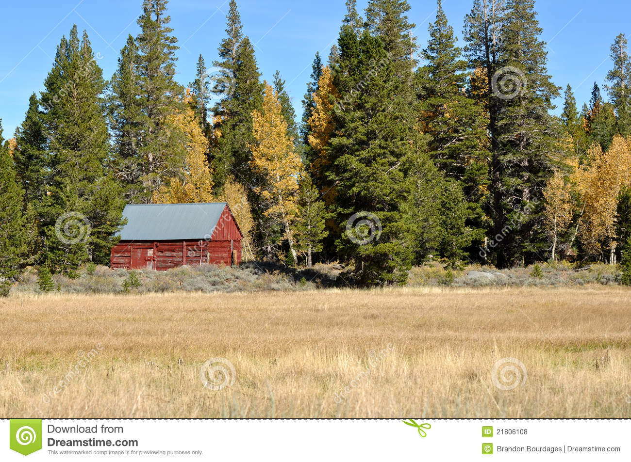 Cabin in the sierra nevada mountains royalty free stock for Sierra nevada cabine