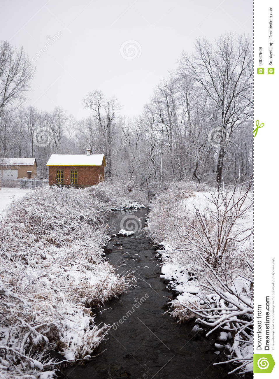Cabin In The Woods, Catskills Mountains Stock Photo