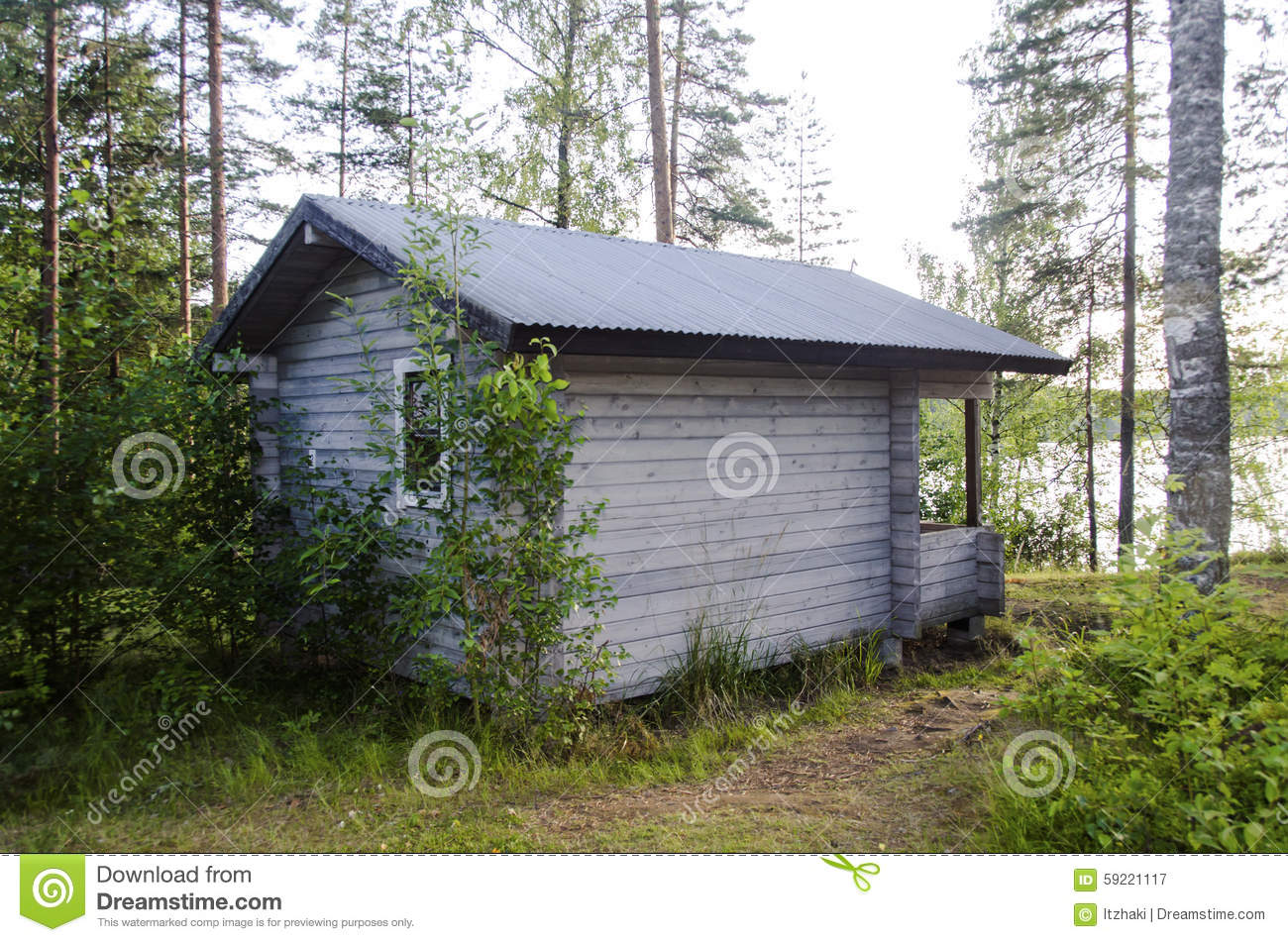 Log cabin in the woods by a lake - Cabin In The Woods Near The Lake