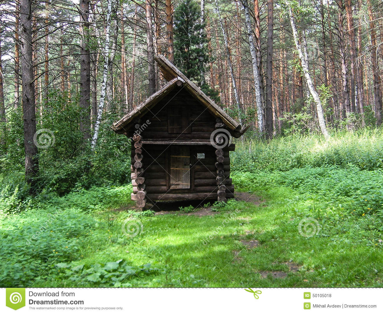 cabin in the woods stock photo  image of pine  landscape