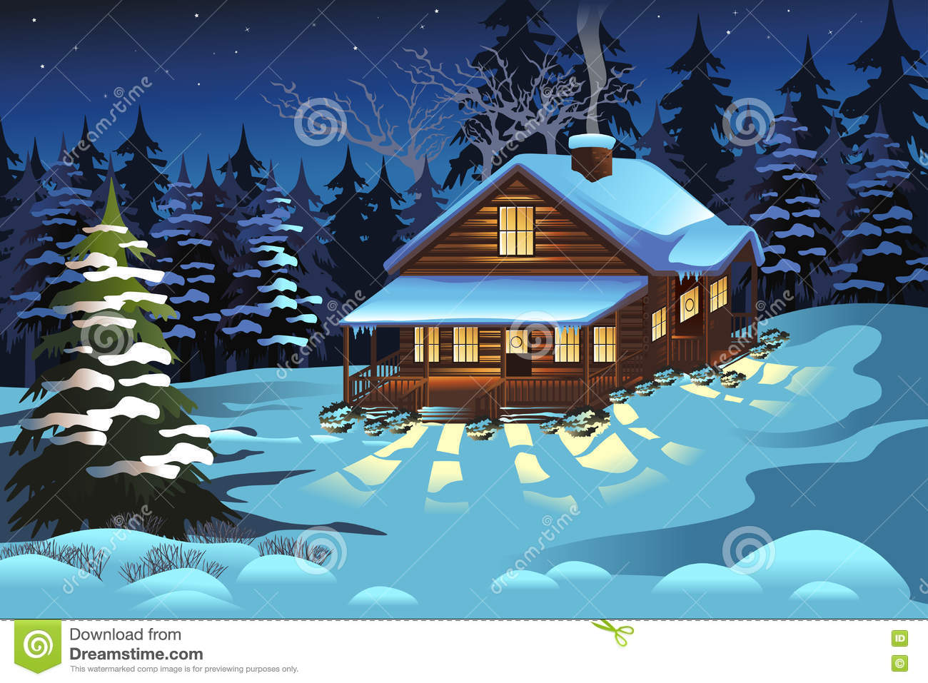 Cartoon images of winter season for Motor city towing dearborn