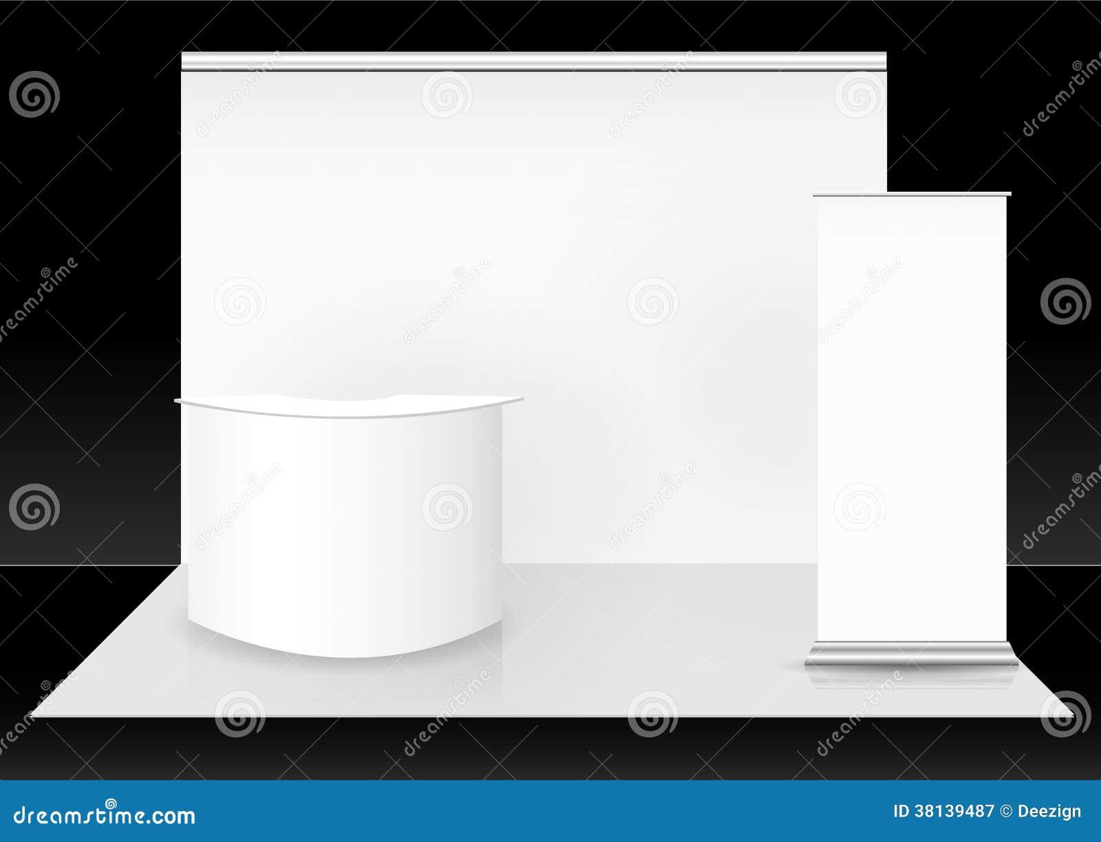 Cabina in bianco della fiera commerciale
