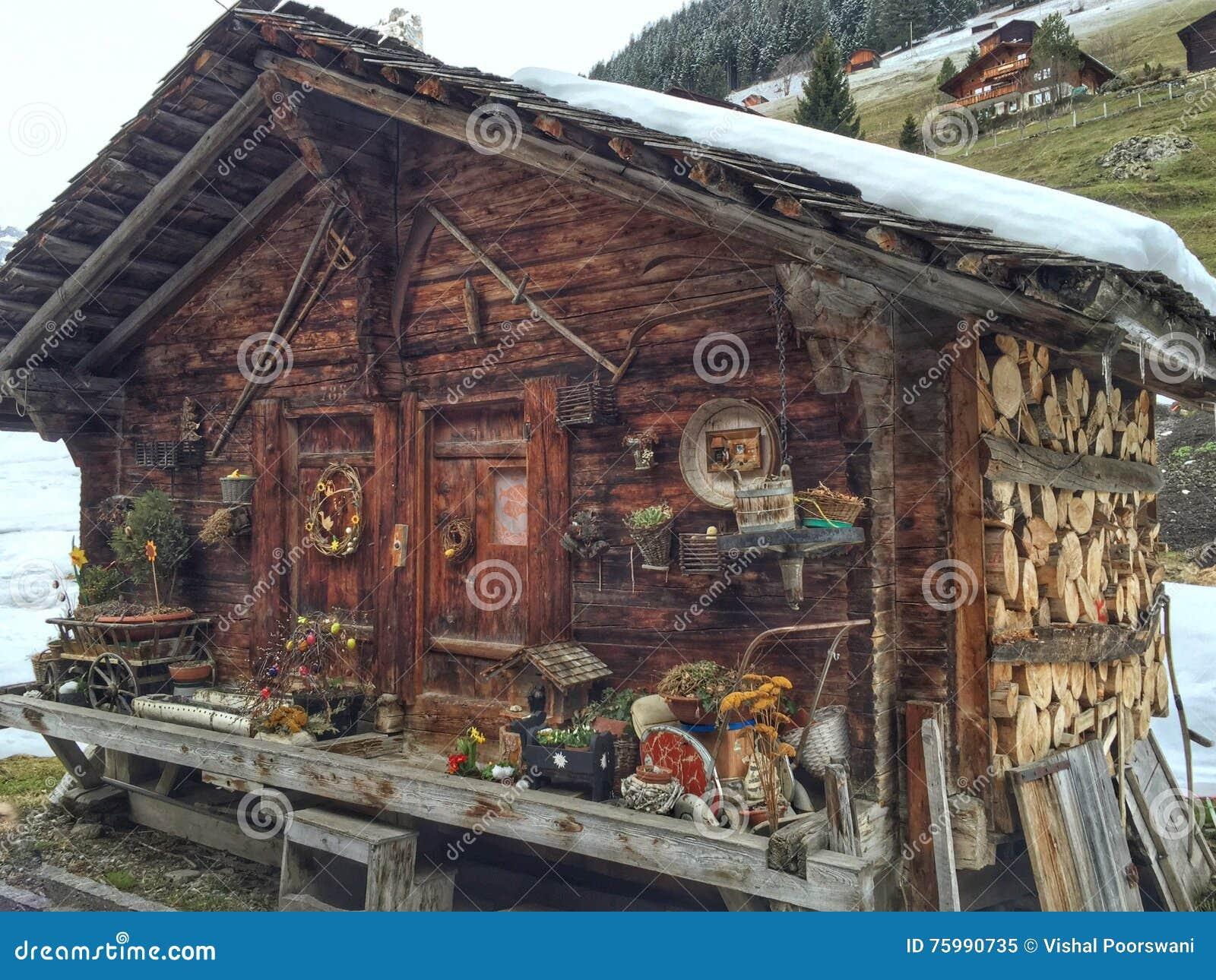 Cabina di ceppo svizzera immagine stock immagine di for Piani moderni della cabina di ceppo