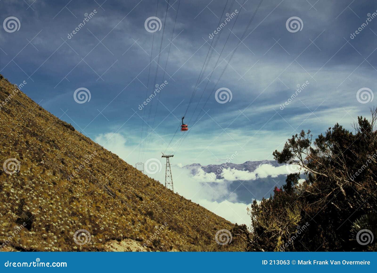 Cabina di funivia nelle Ande