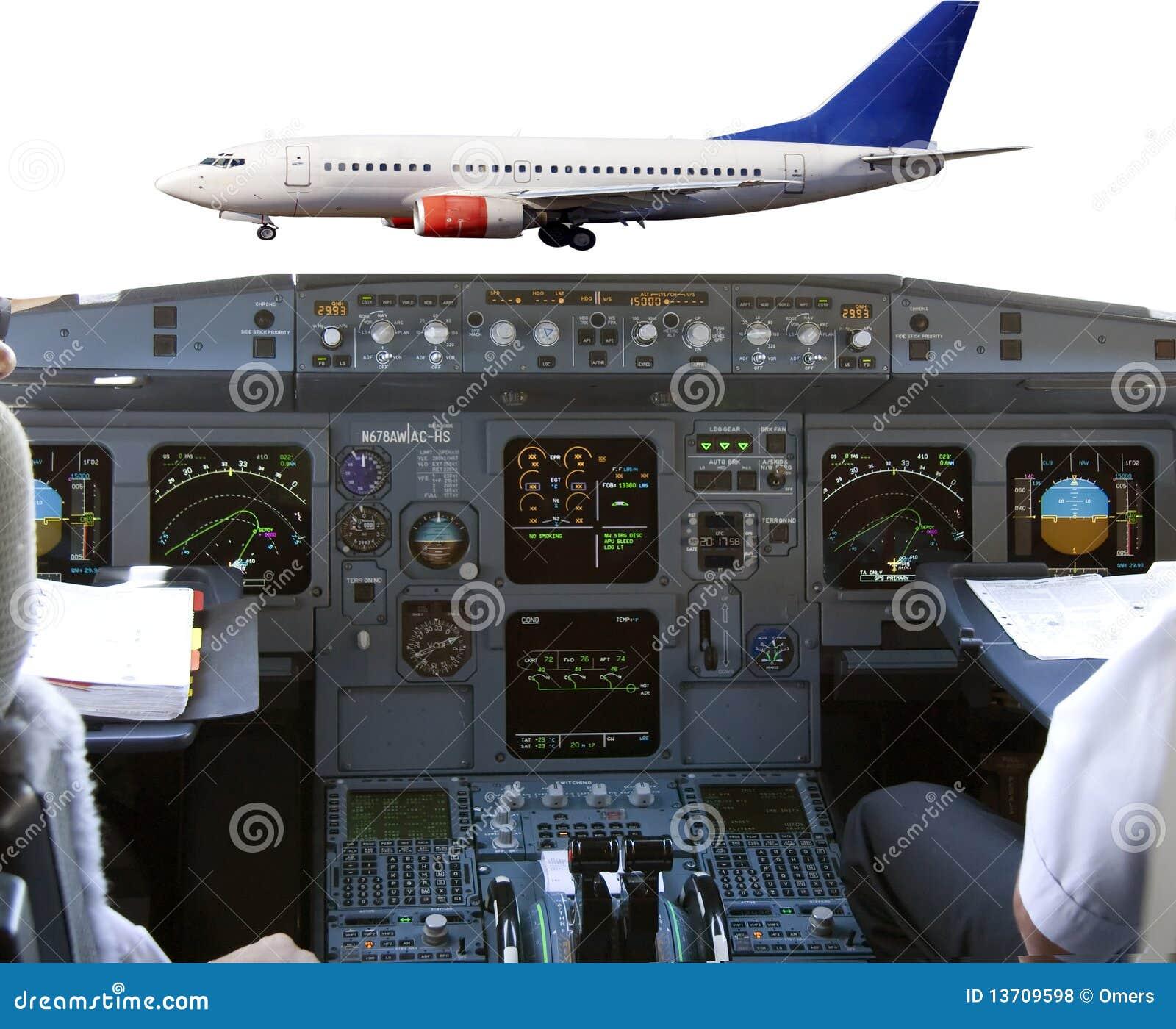 Cabina di guida in aereo di linea fotografie stock libere for Animali domestici della cabina di nashville