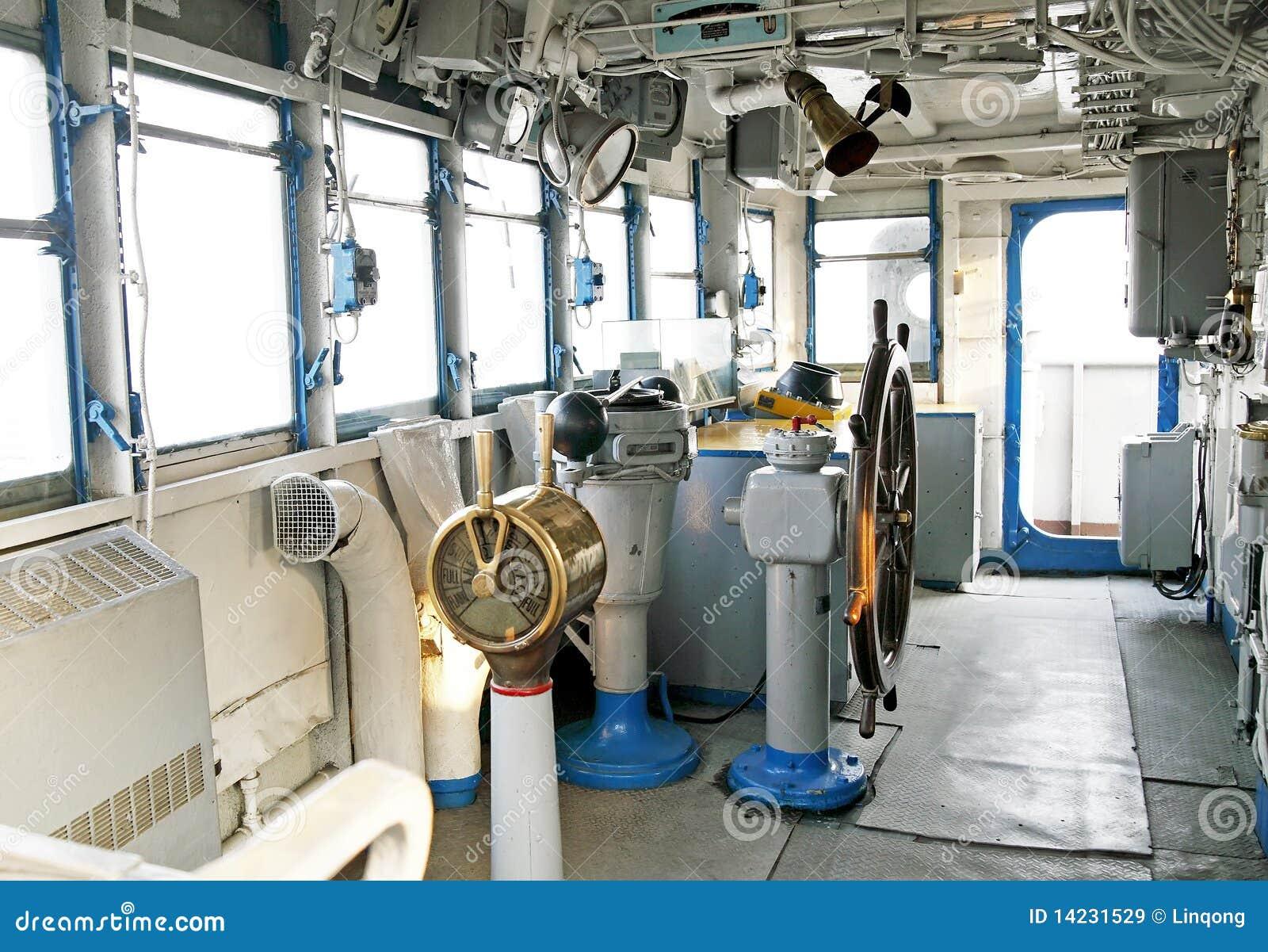 Cabina di guida della nave immagini stock libere da for Affitti della cabina di whistler