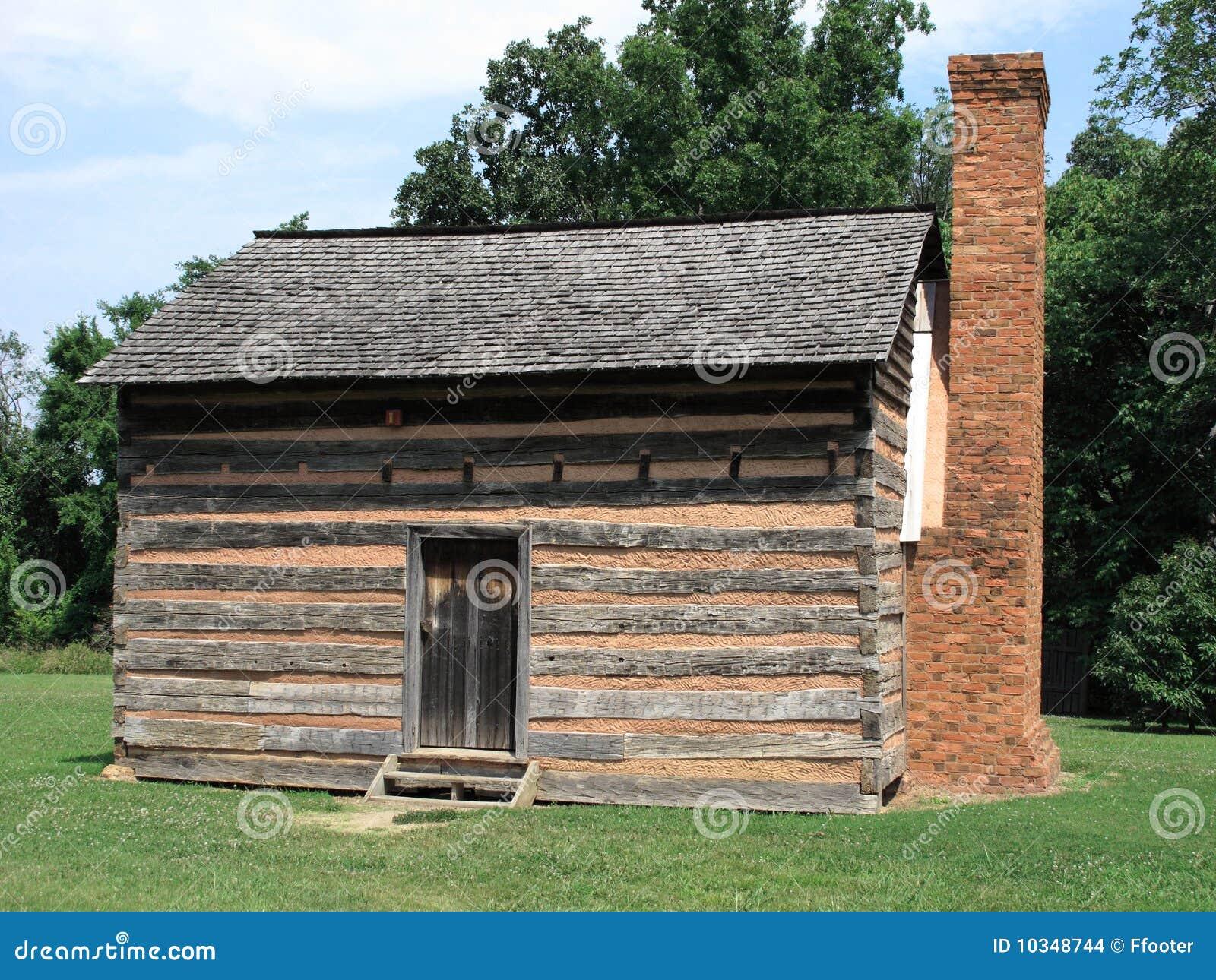 Cabina di libro macchina americana fotografia stock for Disegni di cabina di log gratuiti