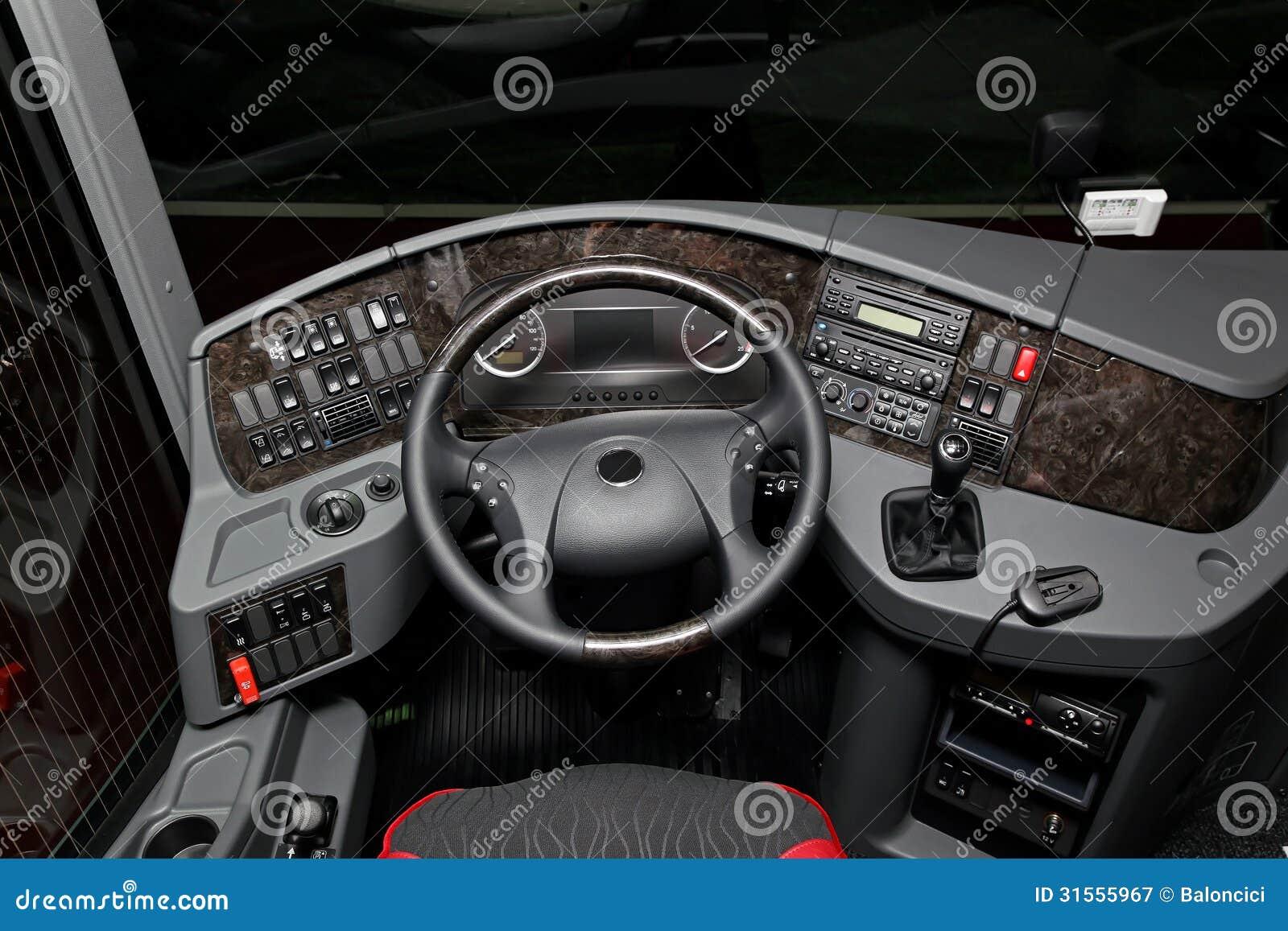 Cabina di pilotaggio del bus illustrazione di stock for Cabina del biscotto di marthastewart com