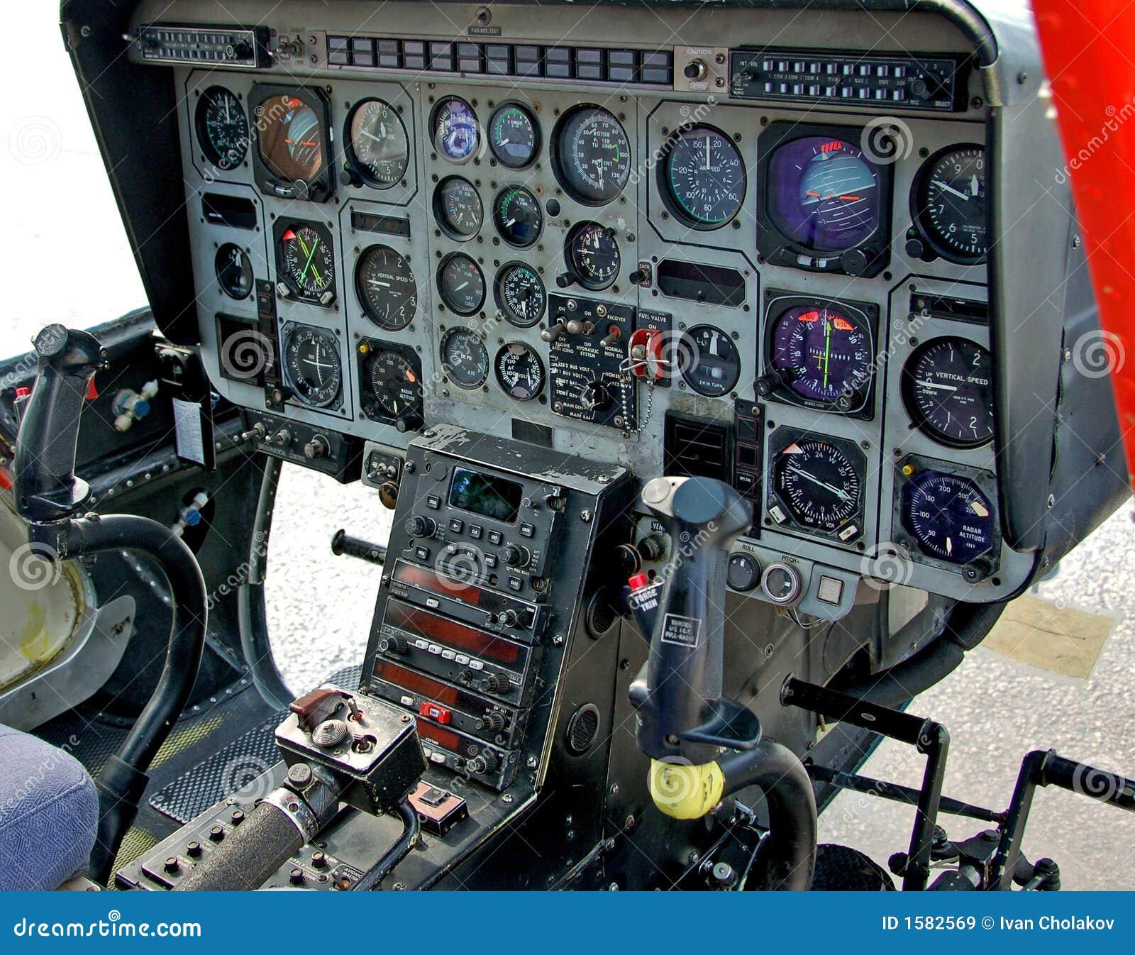 Cabina Do Piloto Do Helic 243 Ptero Imagens De Stock Royalty