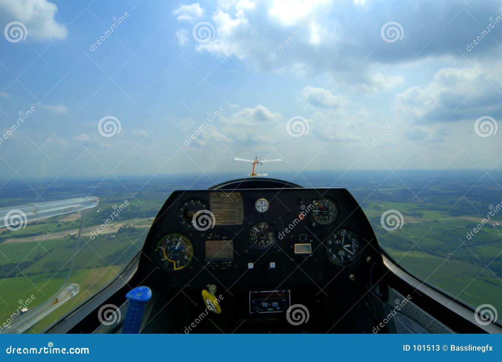Cabina do piloto do planador