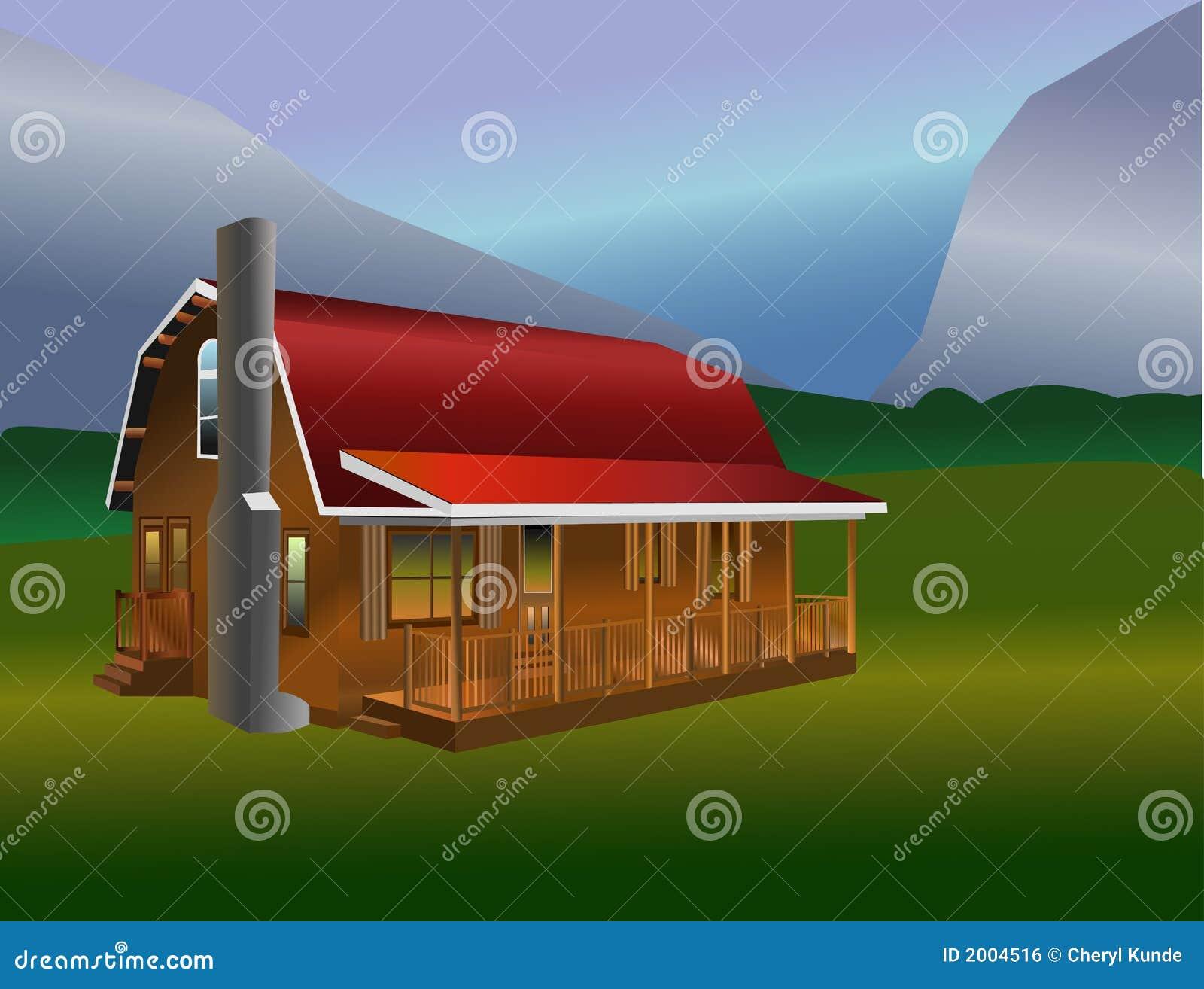 Cabina rustica illustrazione vettoriale illustrazione di for Illuminazione rustica della cabina