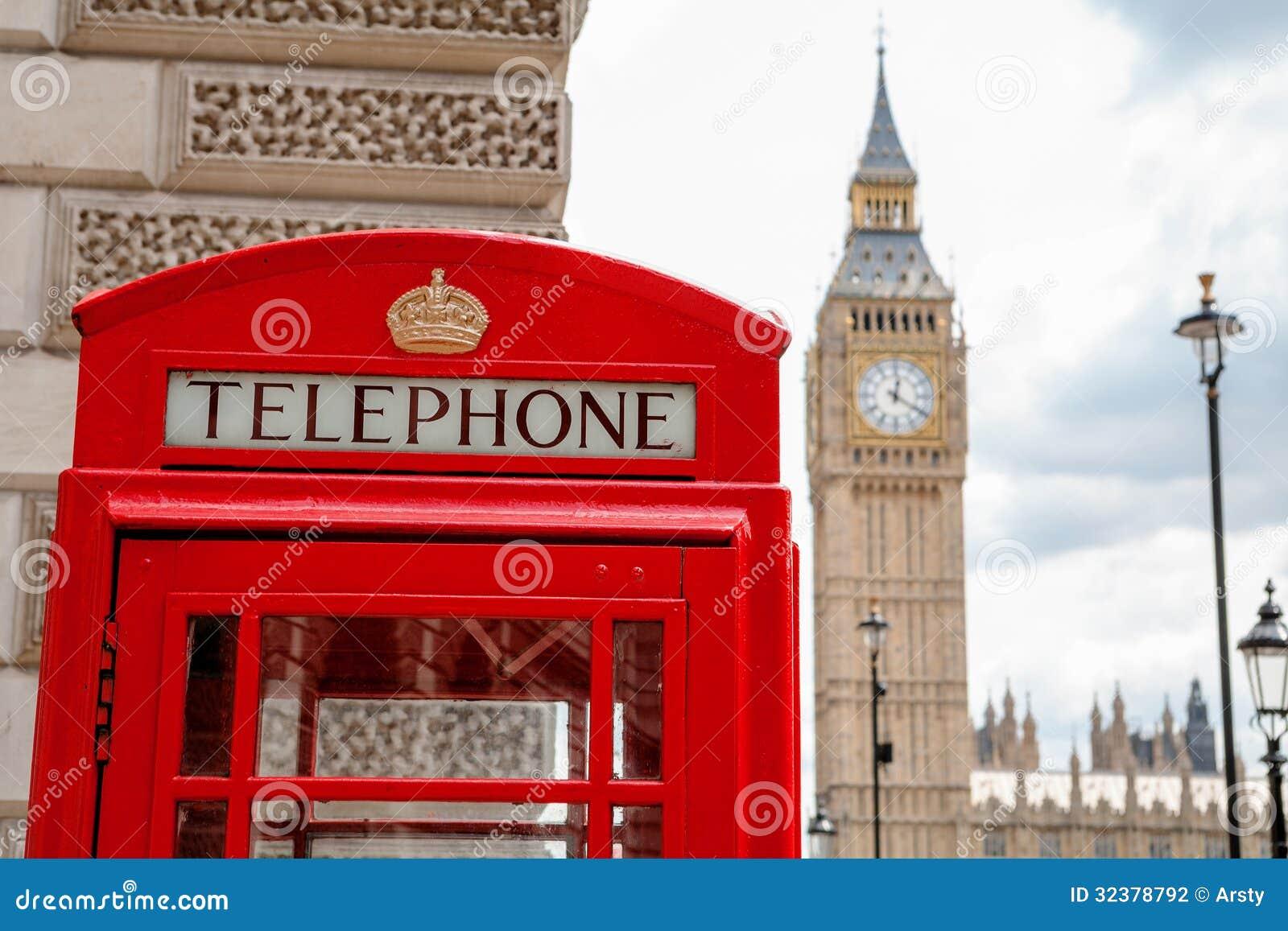 Cabina telefonica rossa londra regno unito fotografia for La cabina di zio ben